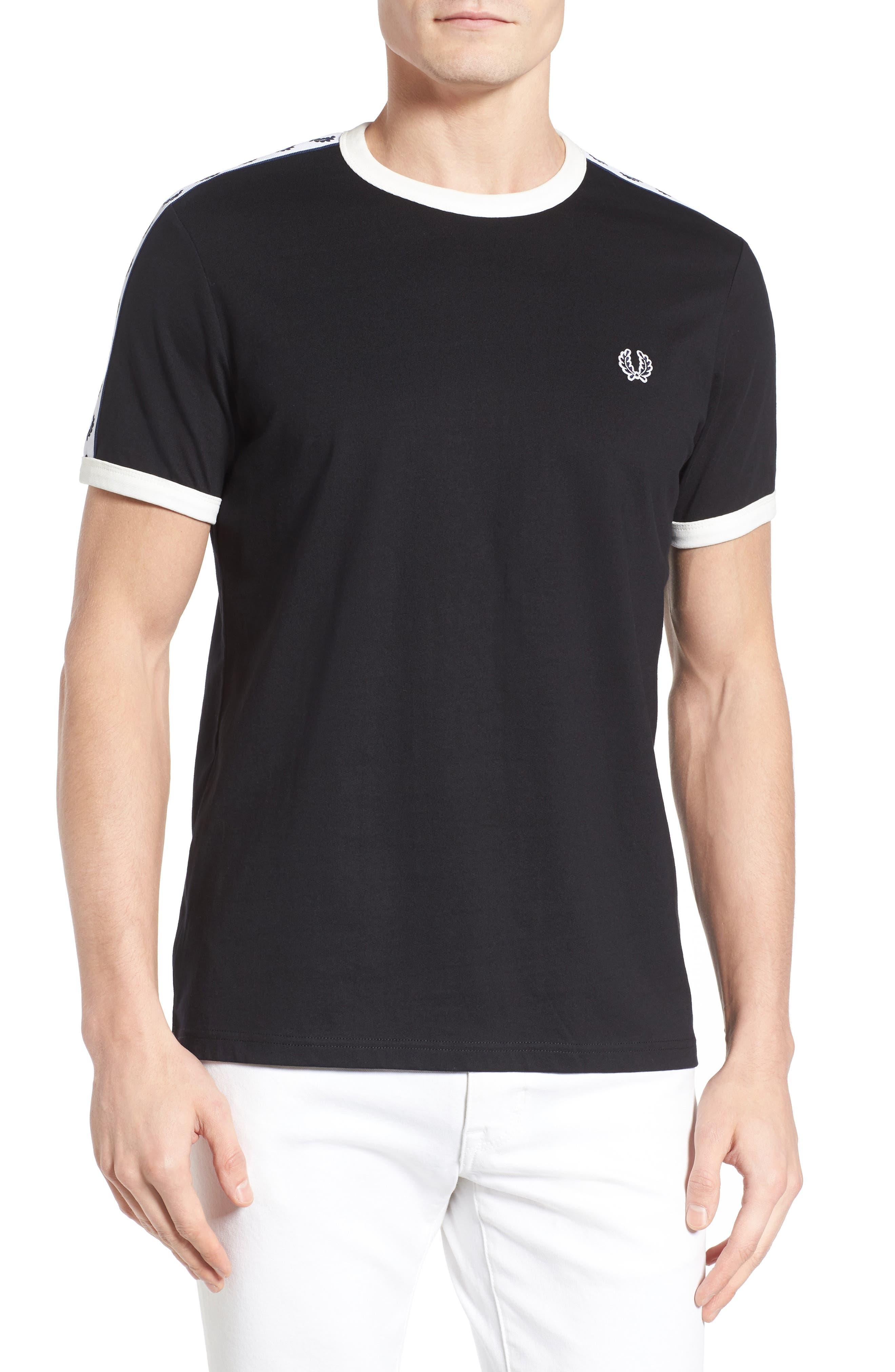 Extra Trim Fit Cotton Ringer T-Shirt,                             Main thumbnail 3, color,