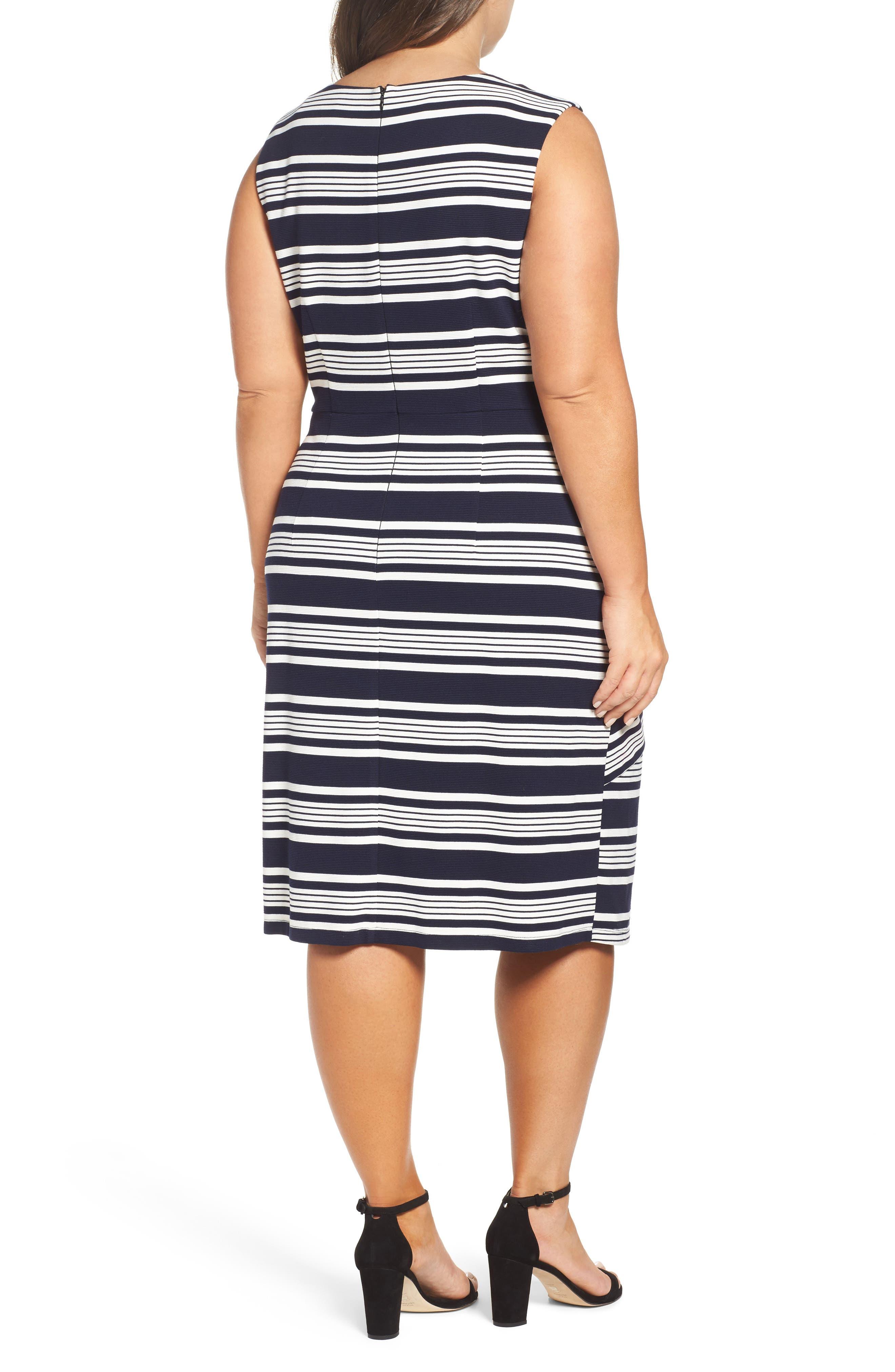Stripe Body-Con Dress,                             Alternate thumbnail 2, color,                             484