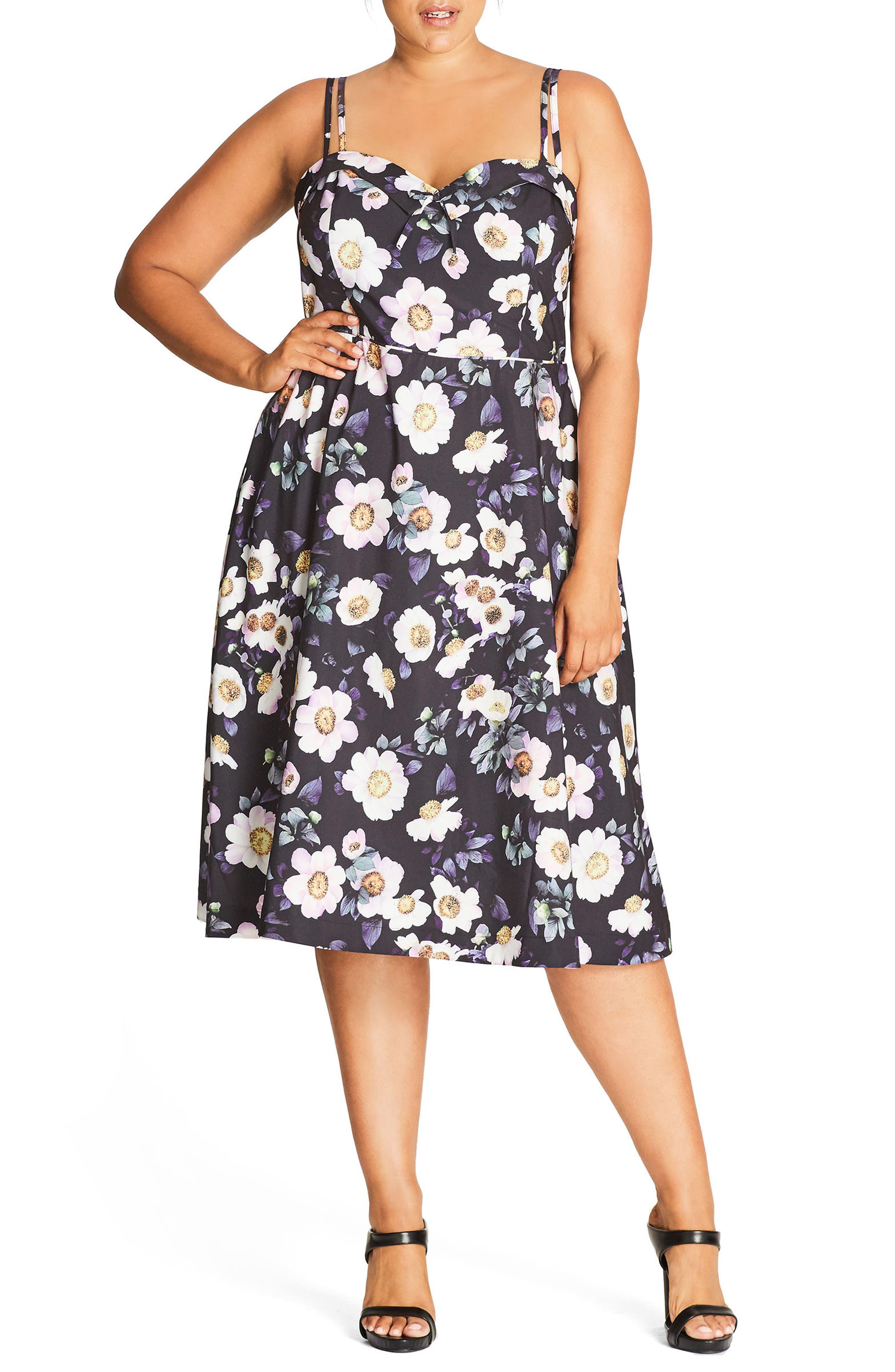 Daytime Diva Fit & Flare Dress,                             Alternate thumbnail 7, color,