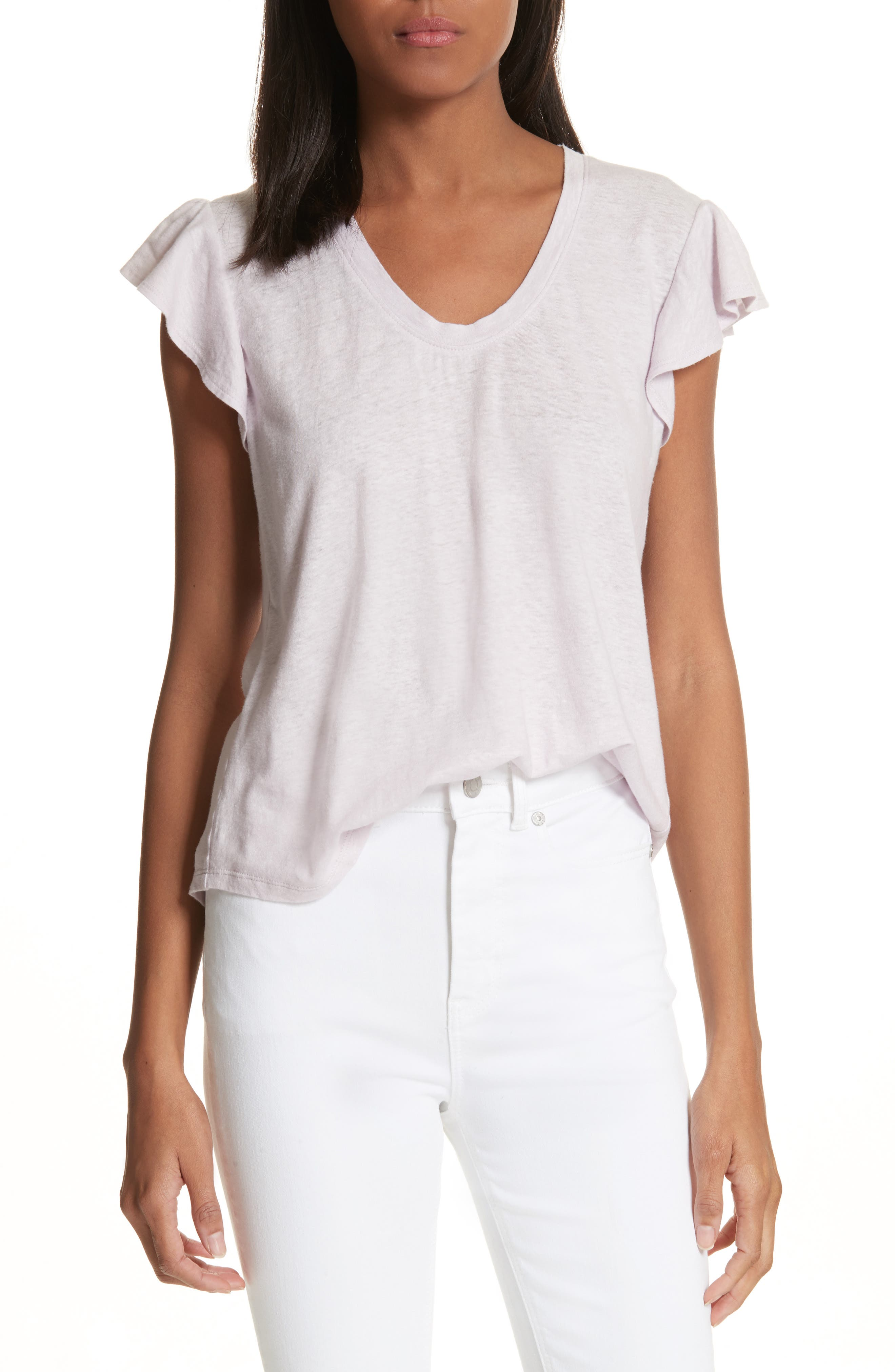Flutter Sleeve Tee,                             Main thumbnail 1, color,                             661