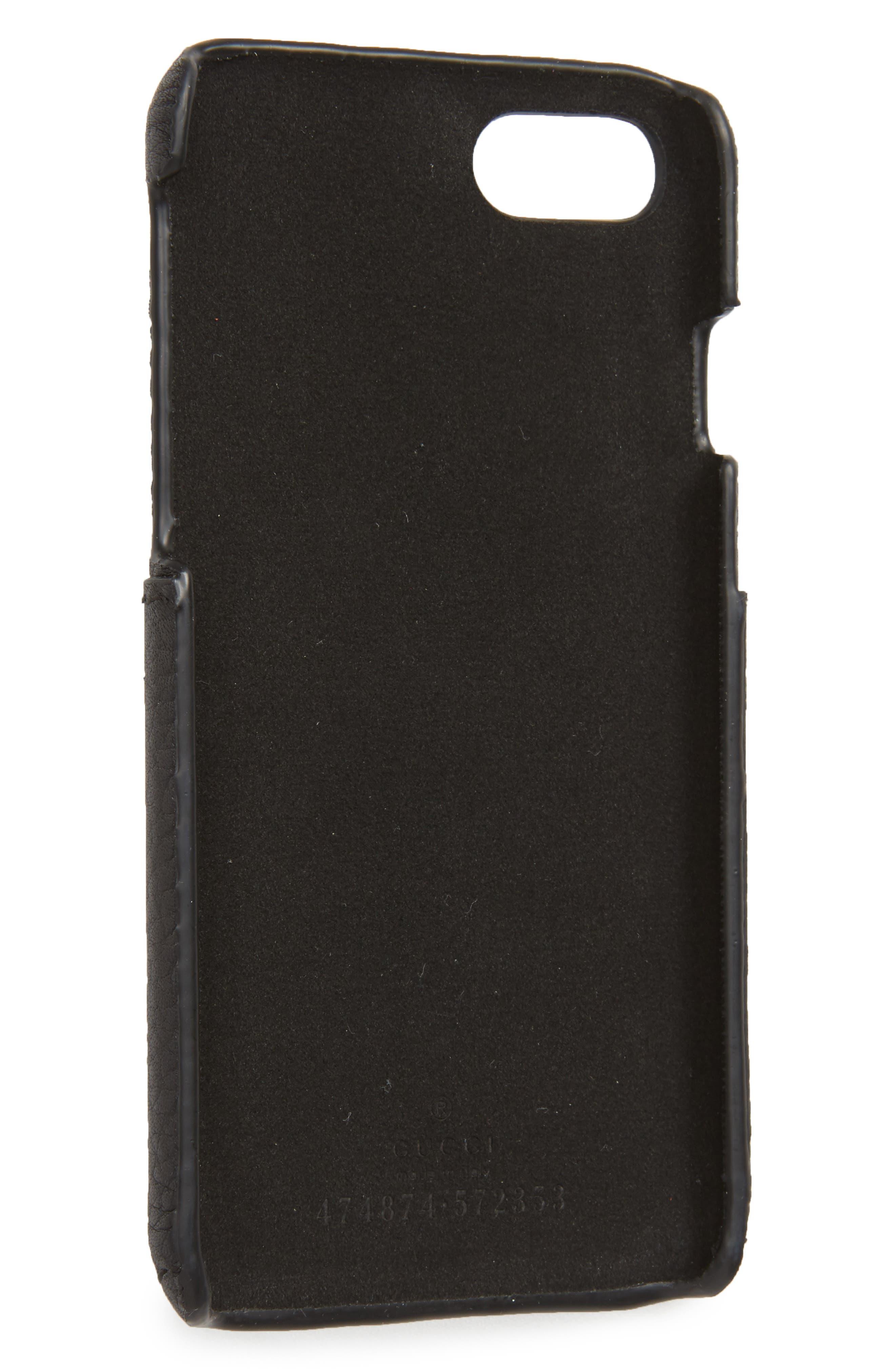 Tiger L'Aveugle Par Amour Leather iPhone 7 Case,                             Alternate thumbnail 2, color,                             001