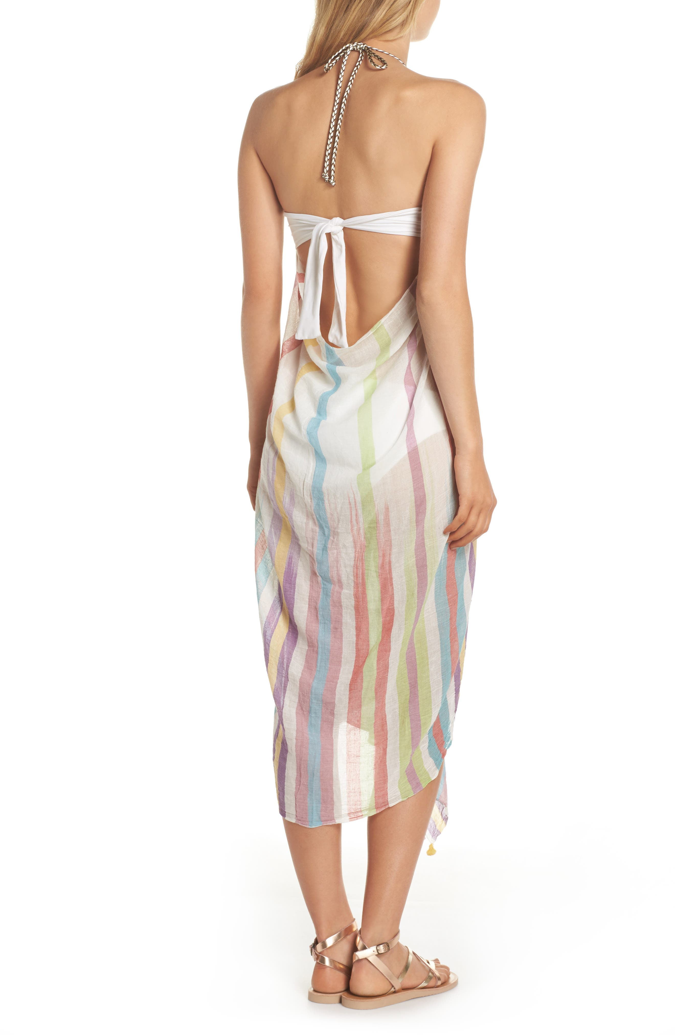 Pool Party Beach to Street Cover-Up Dress,                             Alternate thumbnail 3, color,
