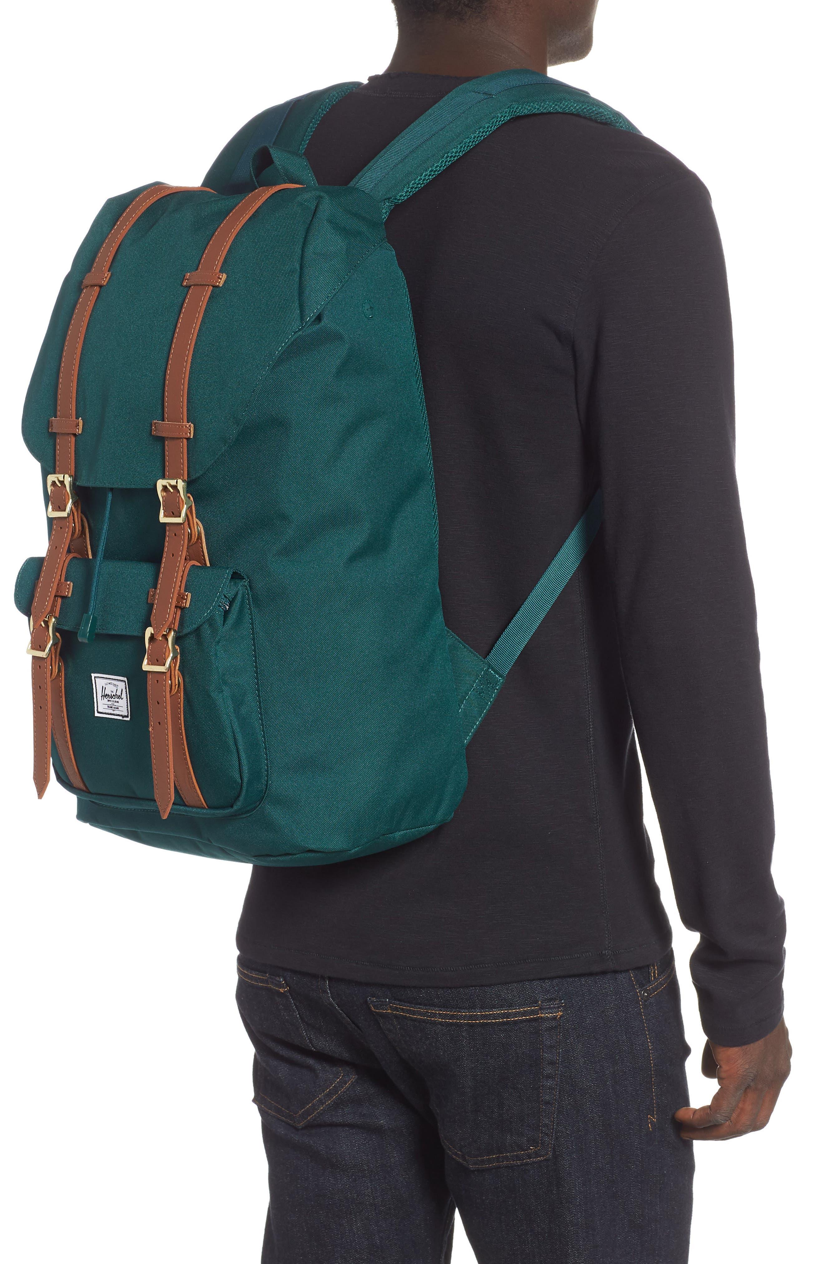 Little America Backpack,                             Alternate thumbnail 2, color,                             DEEP TEAL/ TAN
