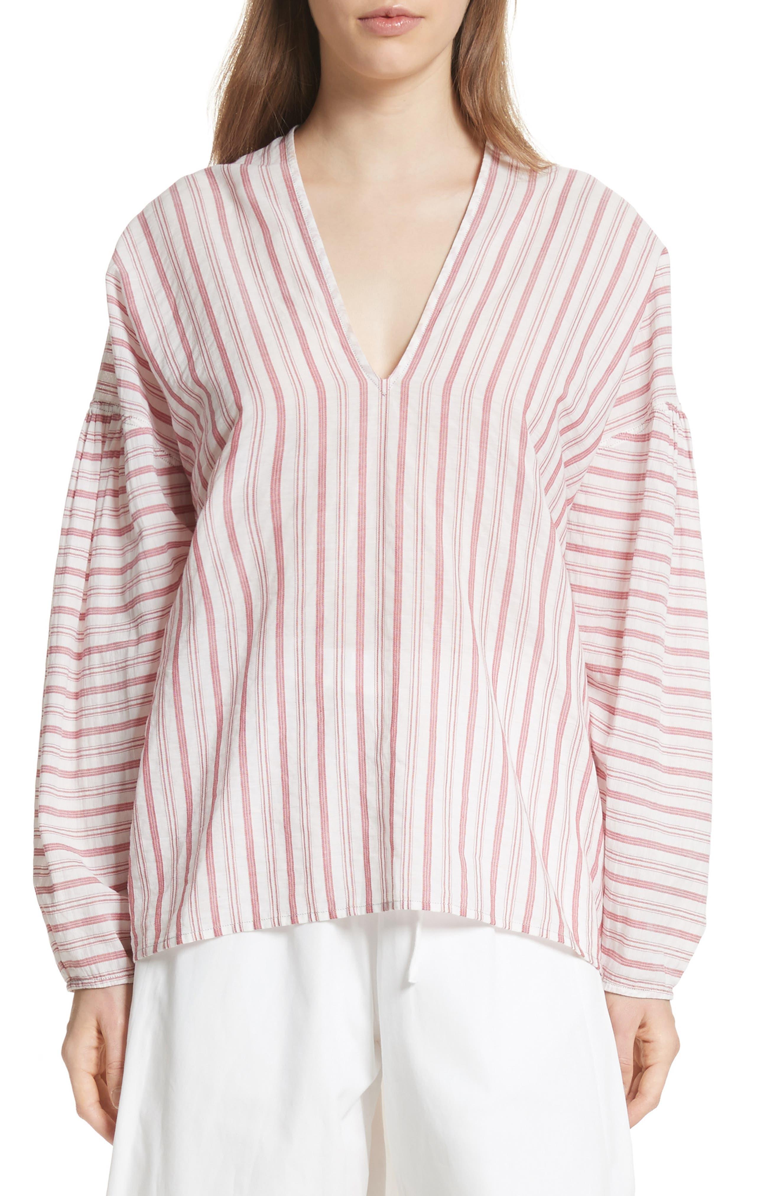 Stripe Cotton Top,                             Main thumbnail 1, color,                             604