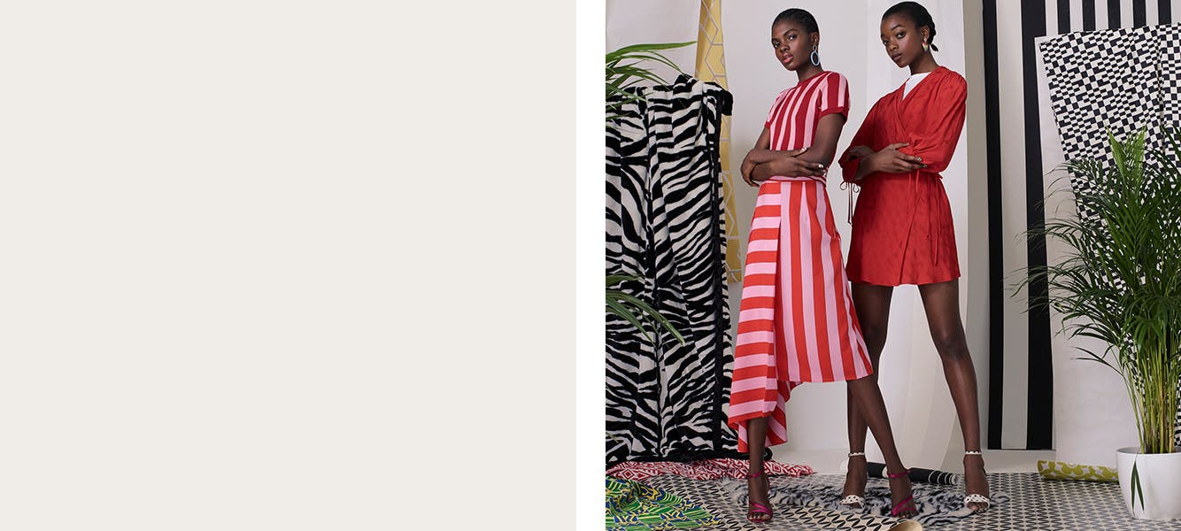 Topshop: bright and striped. Topshop clothing.