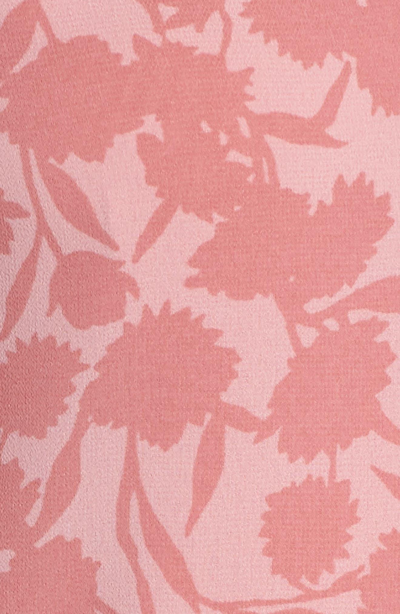 Esther Shadow Branch Chiffon Dress,                             Alternate thumbnail 6, color,                             690
