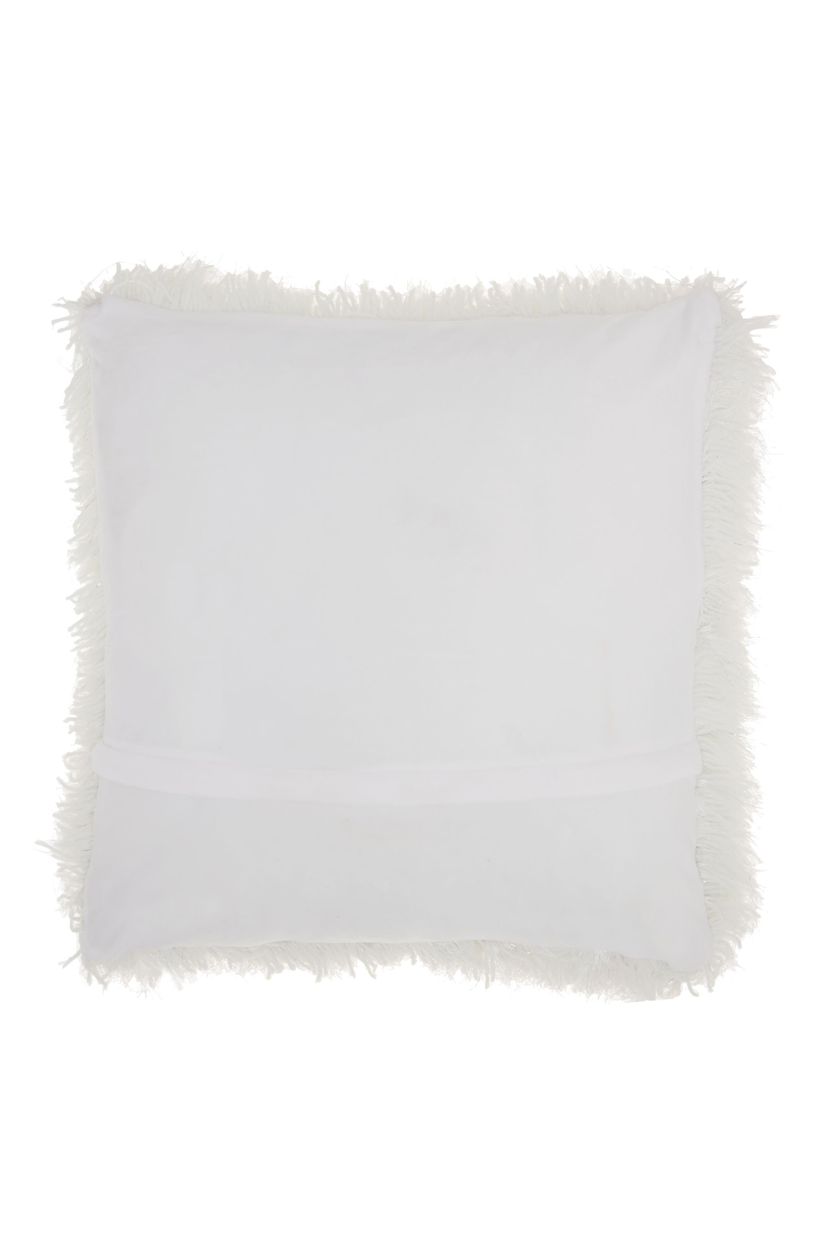 Shag Pillow,                             Alternate thumbnail 2, color,                             WHITE