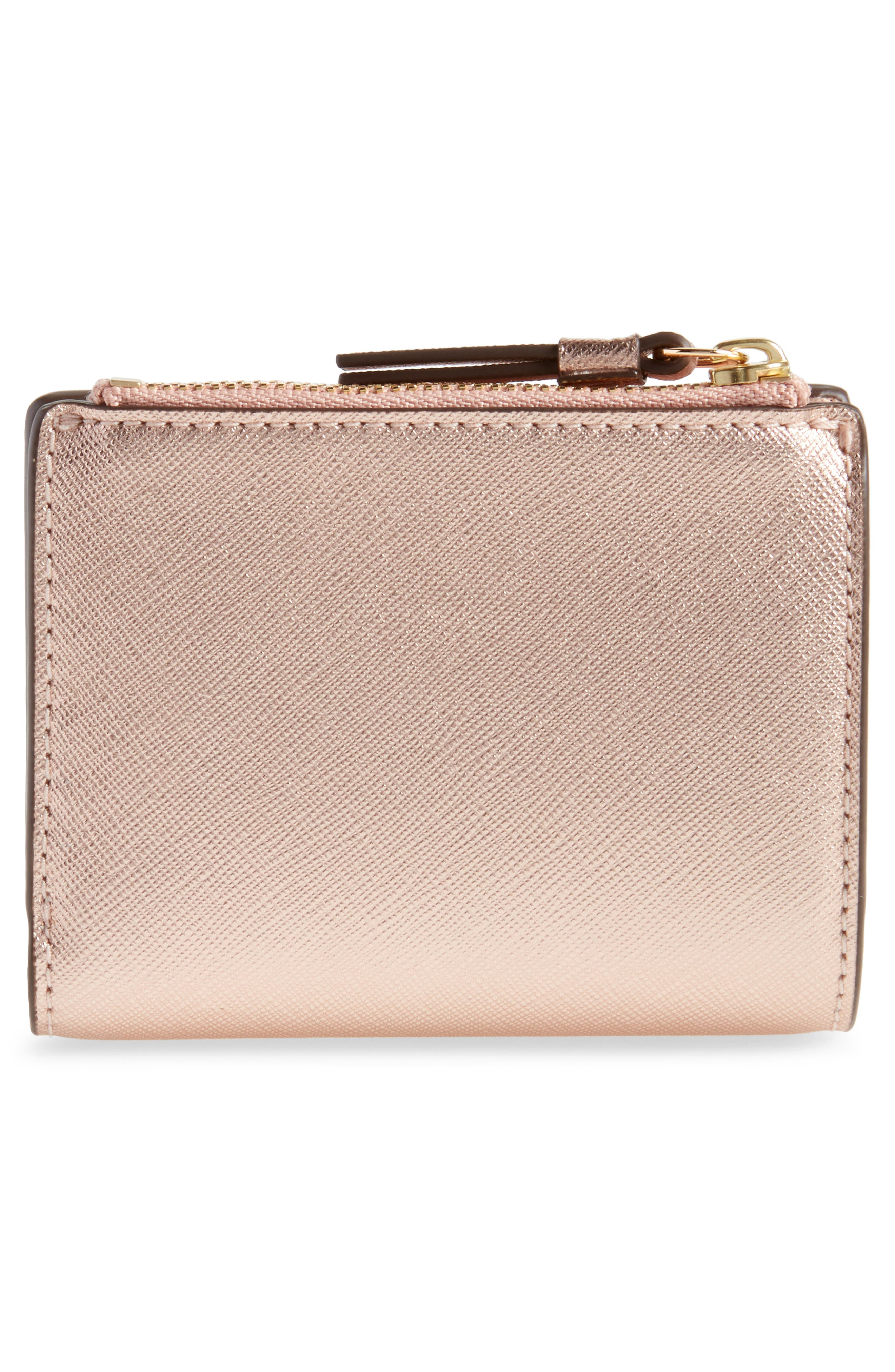 Robinson Metallic Leather Bifold Wallet,                             Alternate thumbnail 4, color,                             650