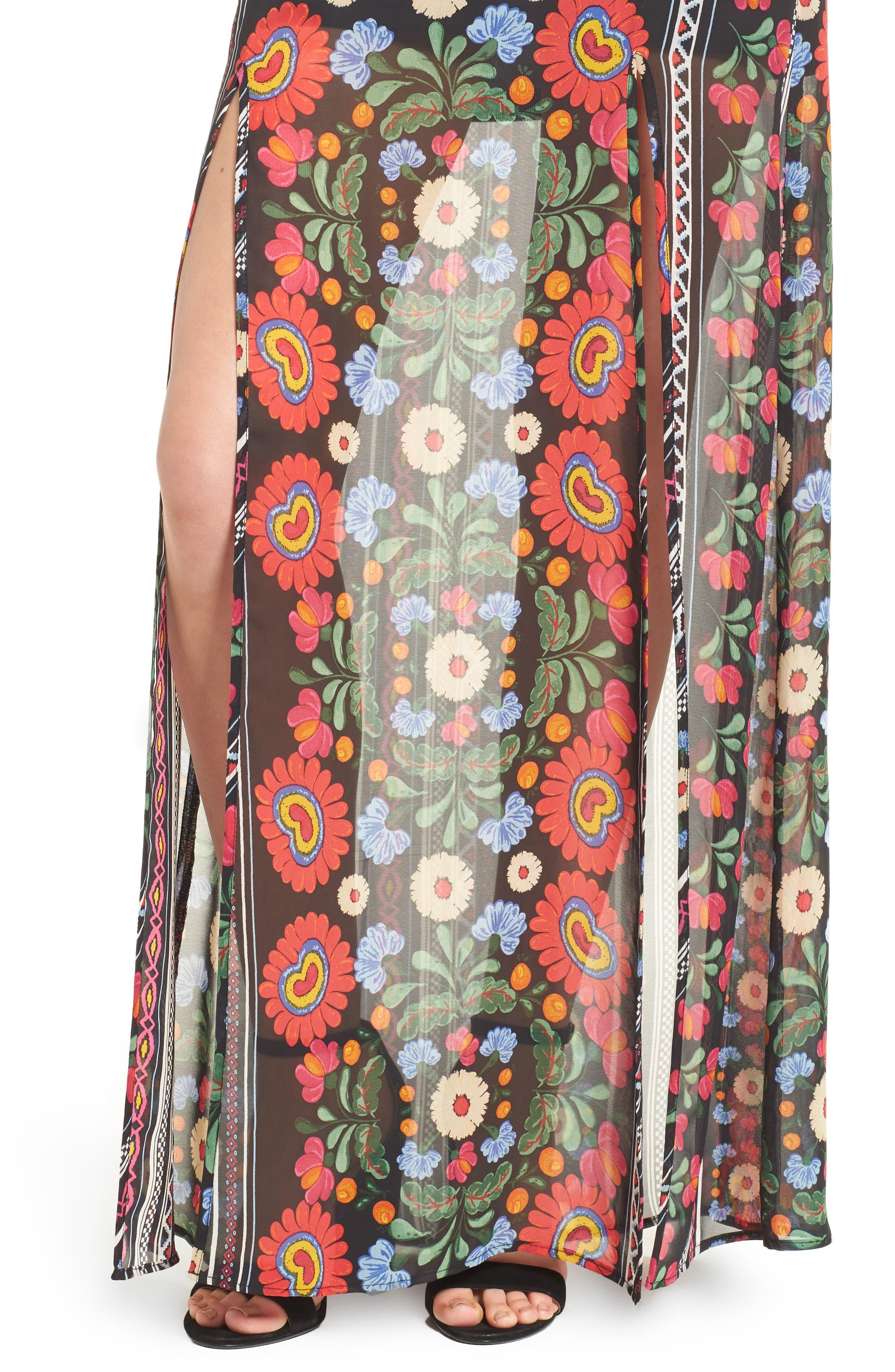 Mick Double Slit Skirt,                             Alternate thumbnail 4, color,                             600
