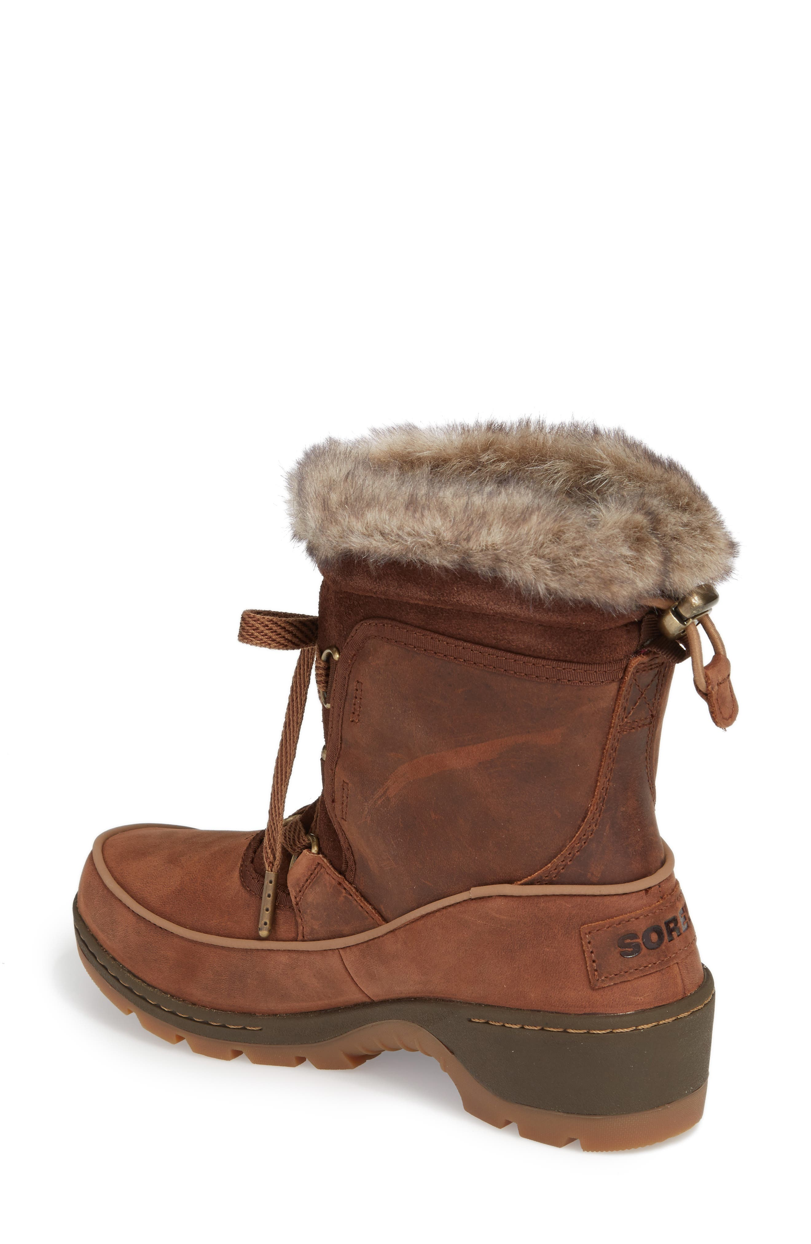 Tivoli II Insulated Winter Boot with Faux Fur Trim,                             Alternate thumbnail 4, color,