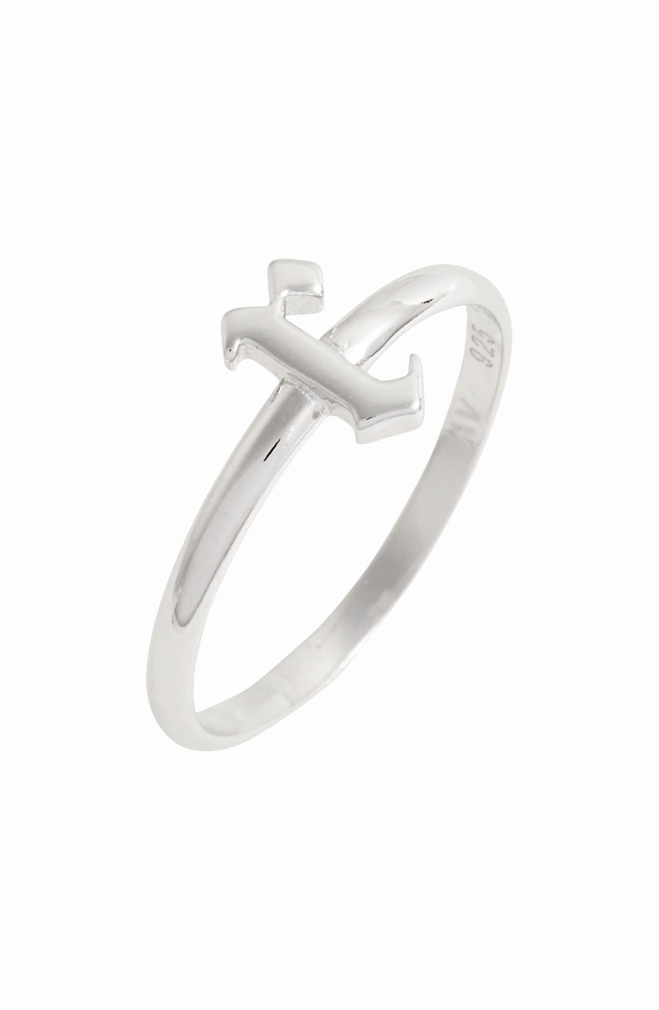 Gothic Initial Ring,                             Main thumbnail 12, color,
