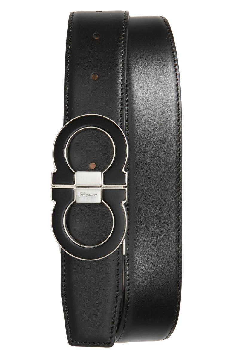 Salvatore Ferragamo Double Gancio Leather Belt | Nordstrom
