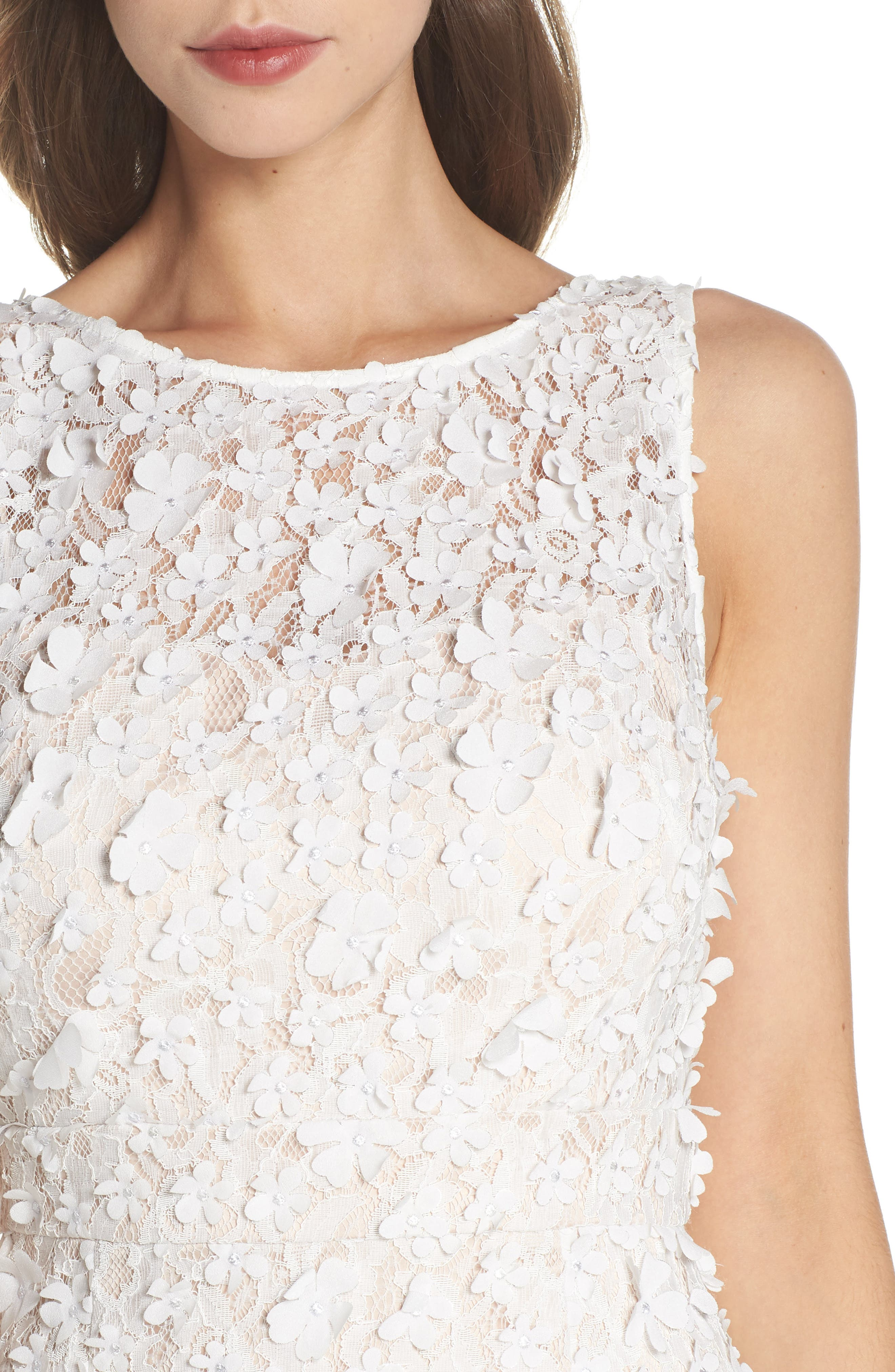 Appliqué Lace Sheath Dress,                             Alternate thumbnail 4, color,                             900