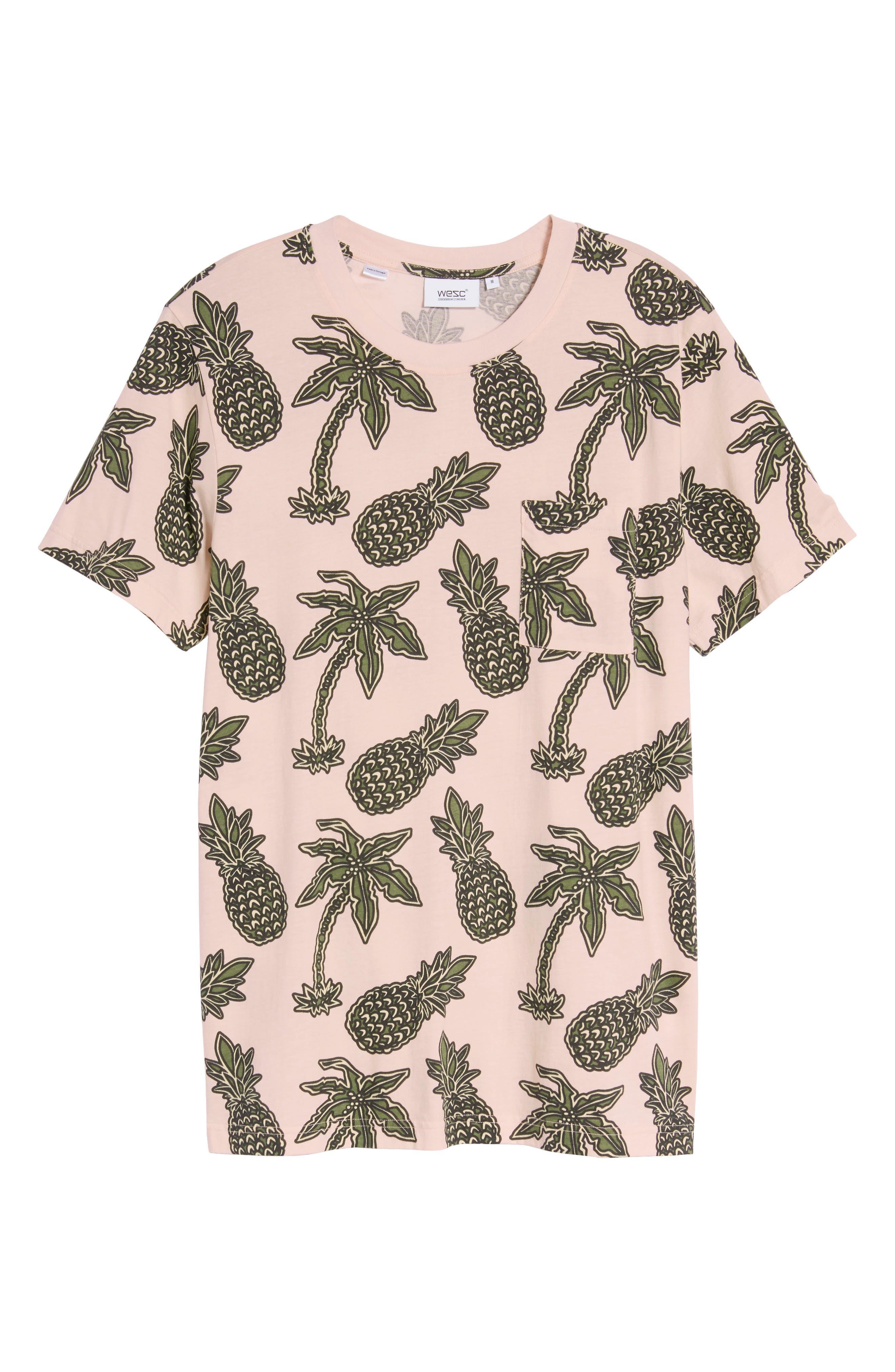 Maxwell Pineapple Print T-Shirt,                             Alternate thumbnail 6, color,                             663
