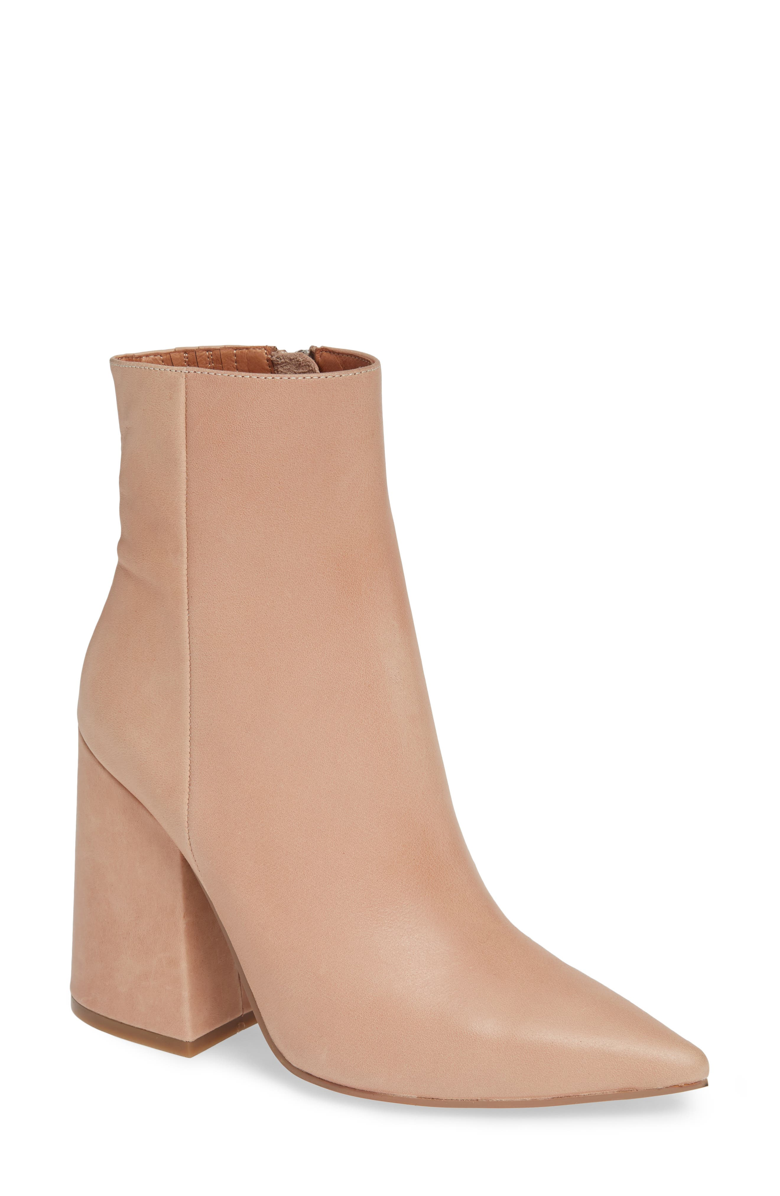 ALIAS MAE Ahara Bootie in Blush Leather