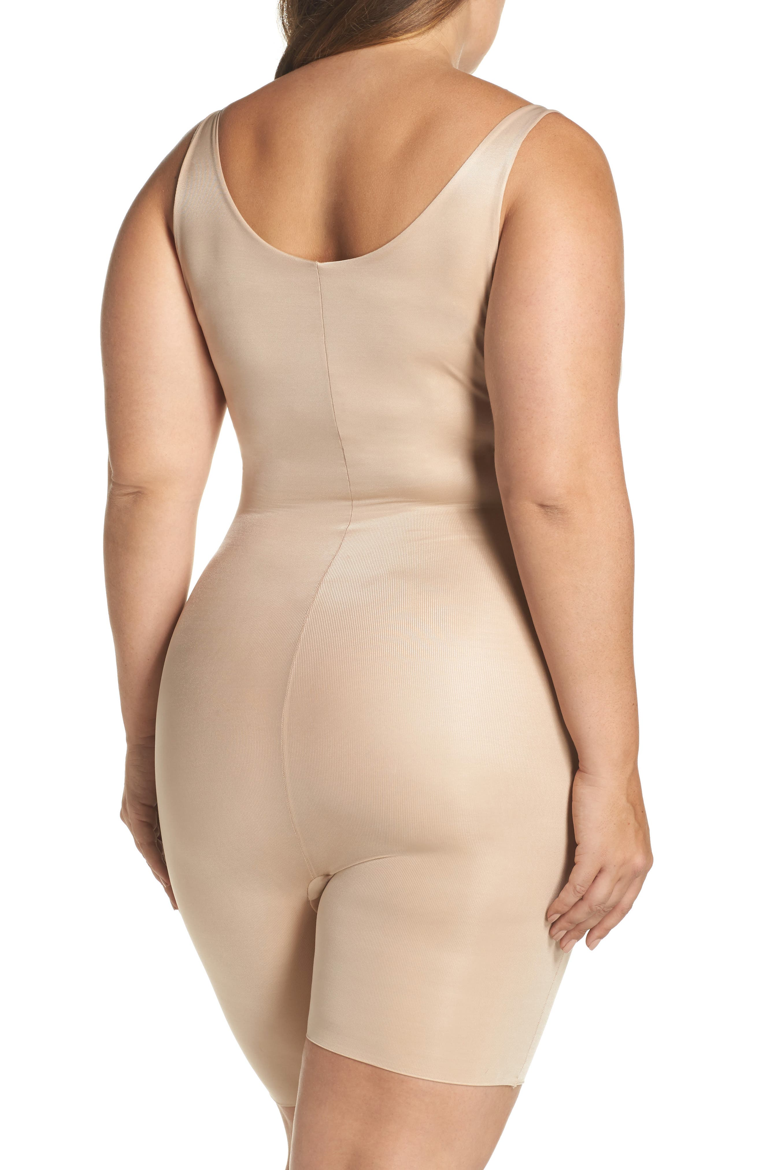 Power Conceal-Her Open Bust Bodysuit,                             Alternate thumbnail 2, color,                             NATURAL GLAM