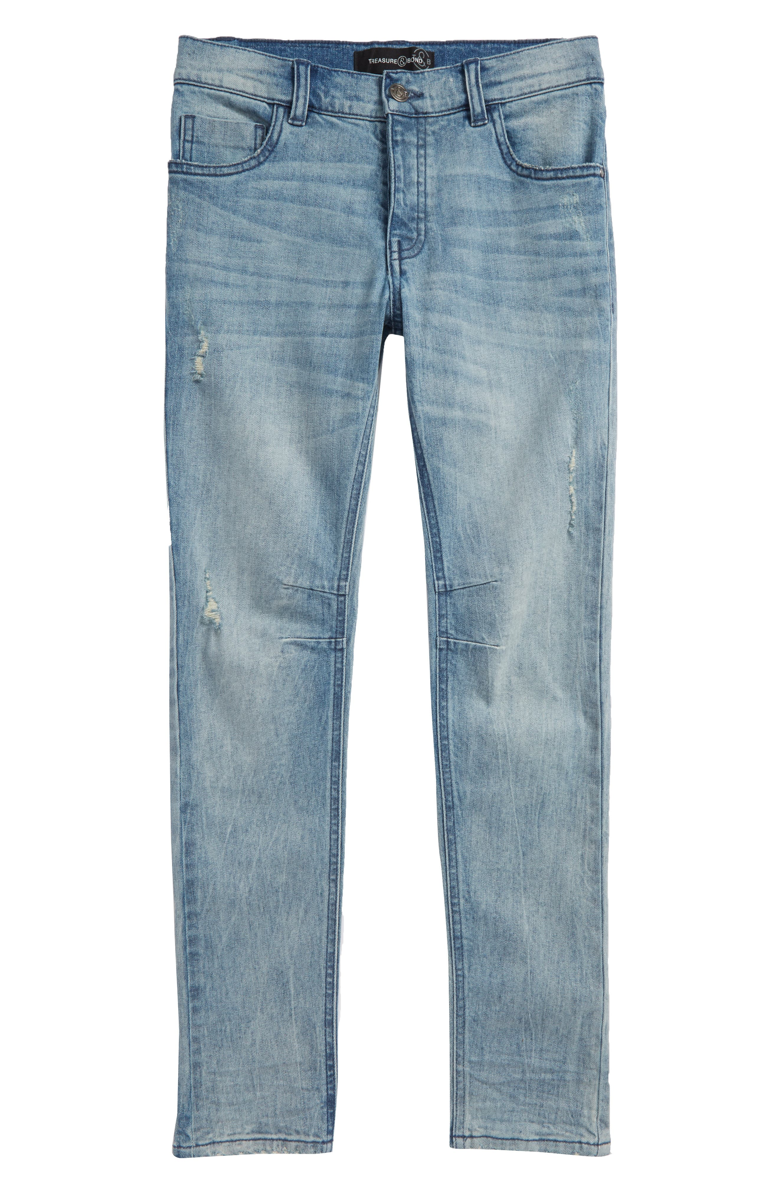 Classic Skinny Jeans,                             Main thumbnail 1, color,                             FROST WASH