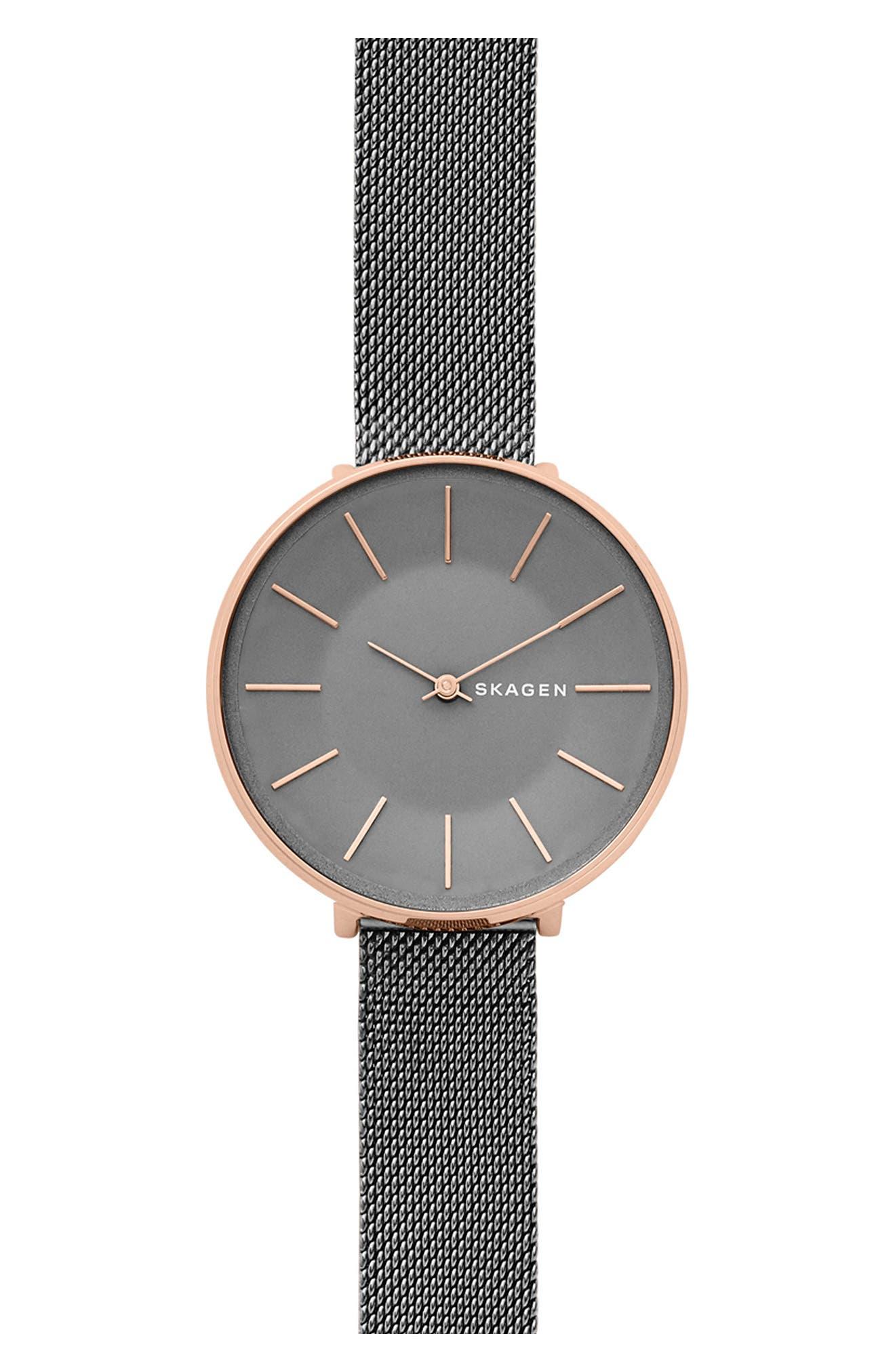 Karolina Mesh Strap Watch, 38mm,                         Main,                         color, 020