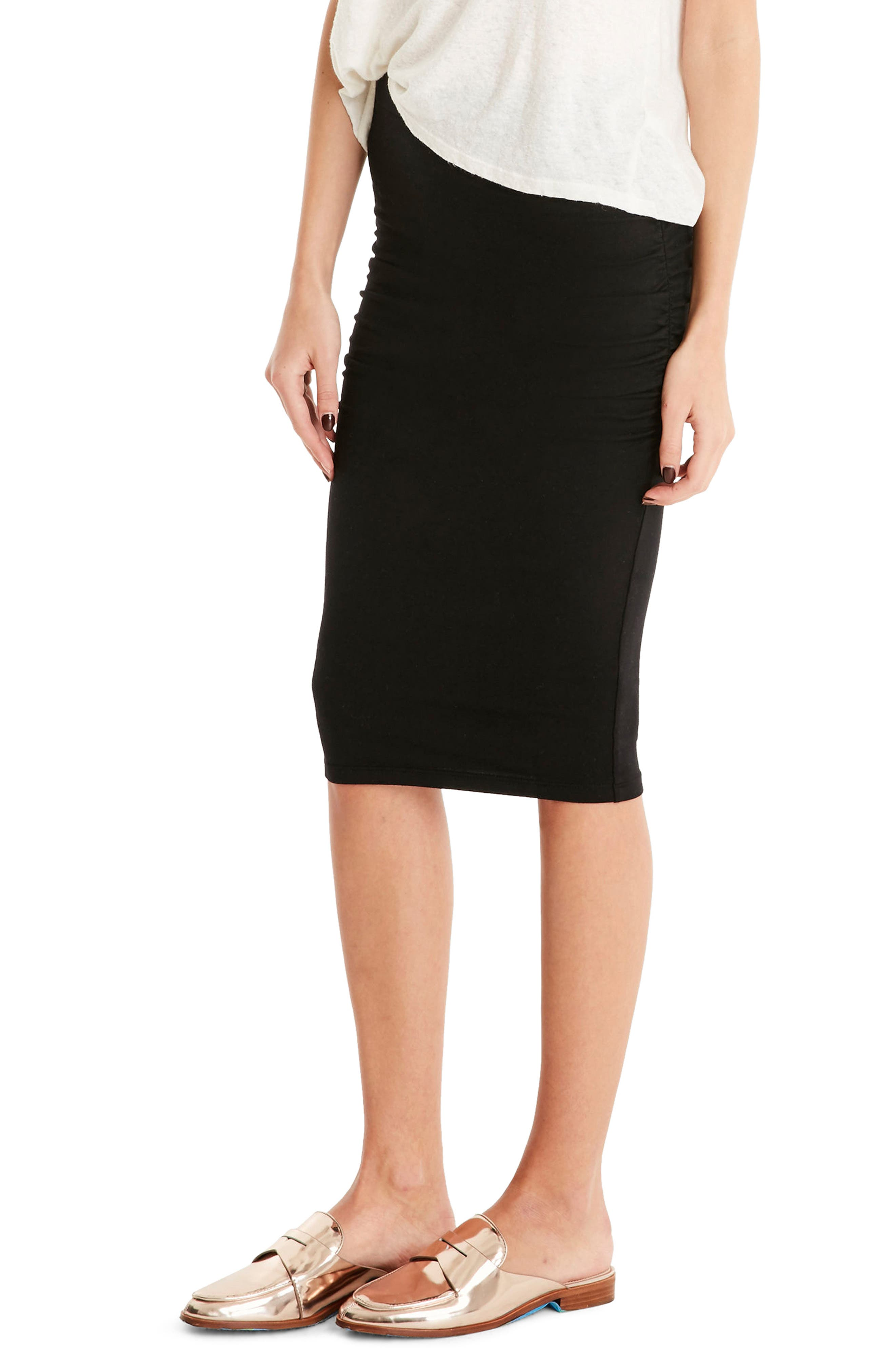 Ruched Pencil Skirt,                             Alternate thumbnail 3, color,