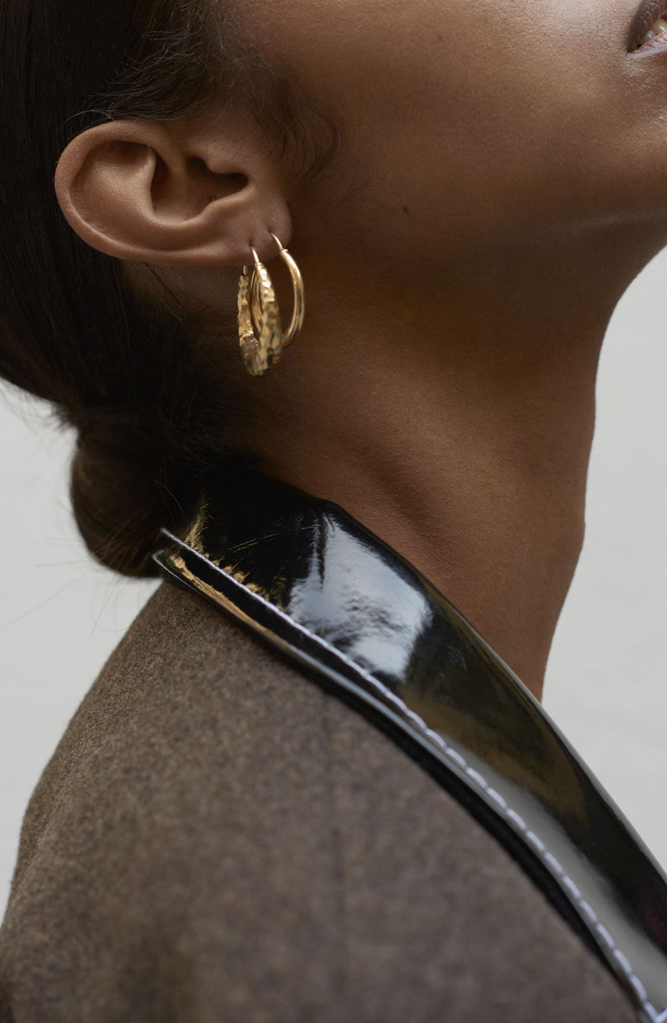 Small Snake Polished Vermeil Earrings,                             Alternate thumbnail 4, color,