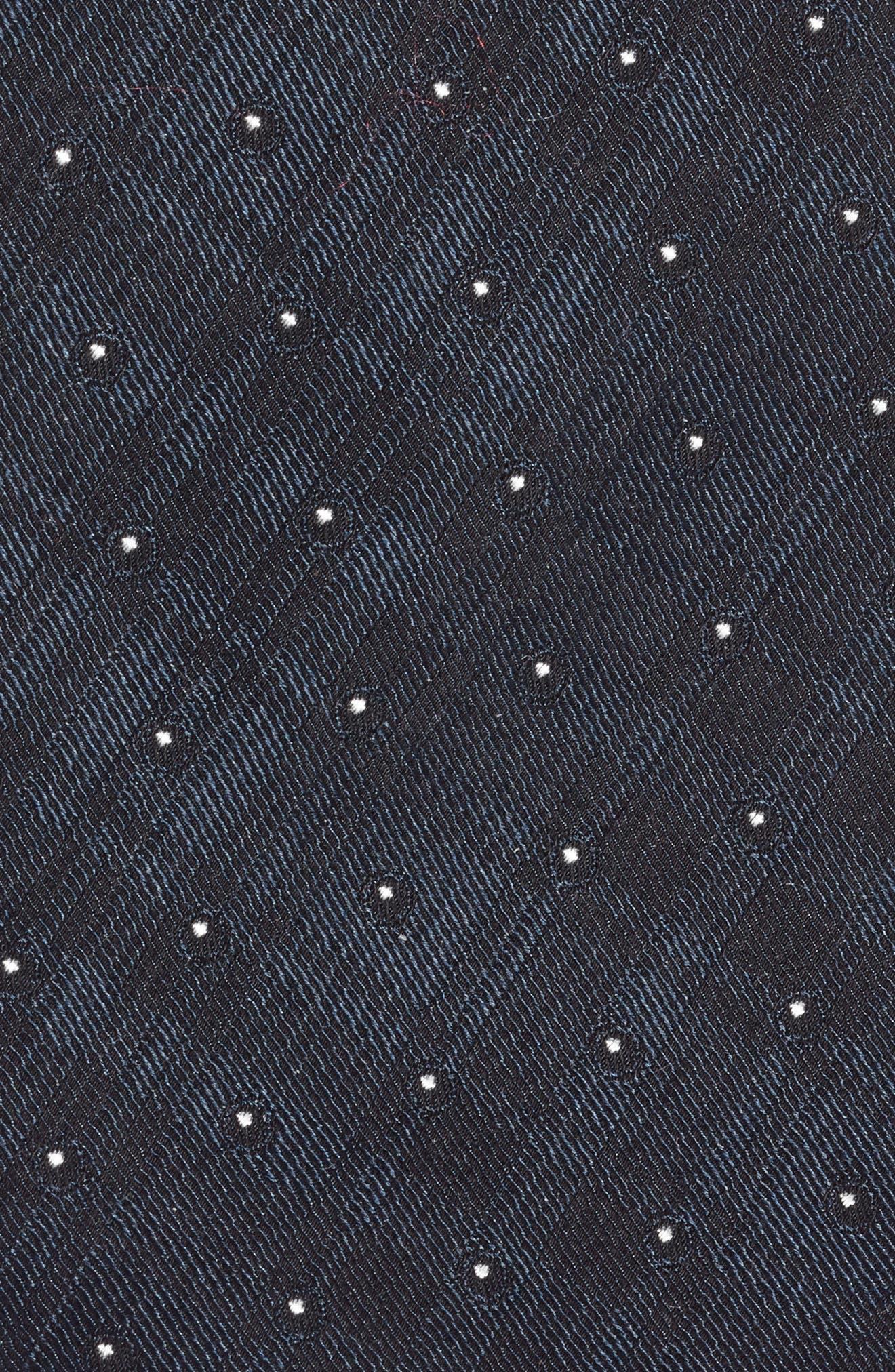 Dot Crosshatch Tie,                             Alternate thumbnail 2, color,                             NAVY