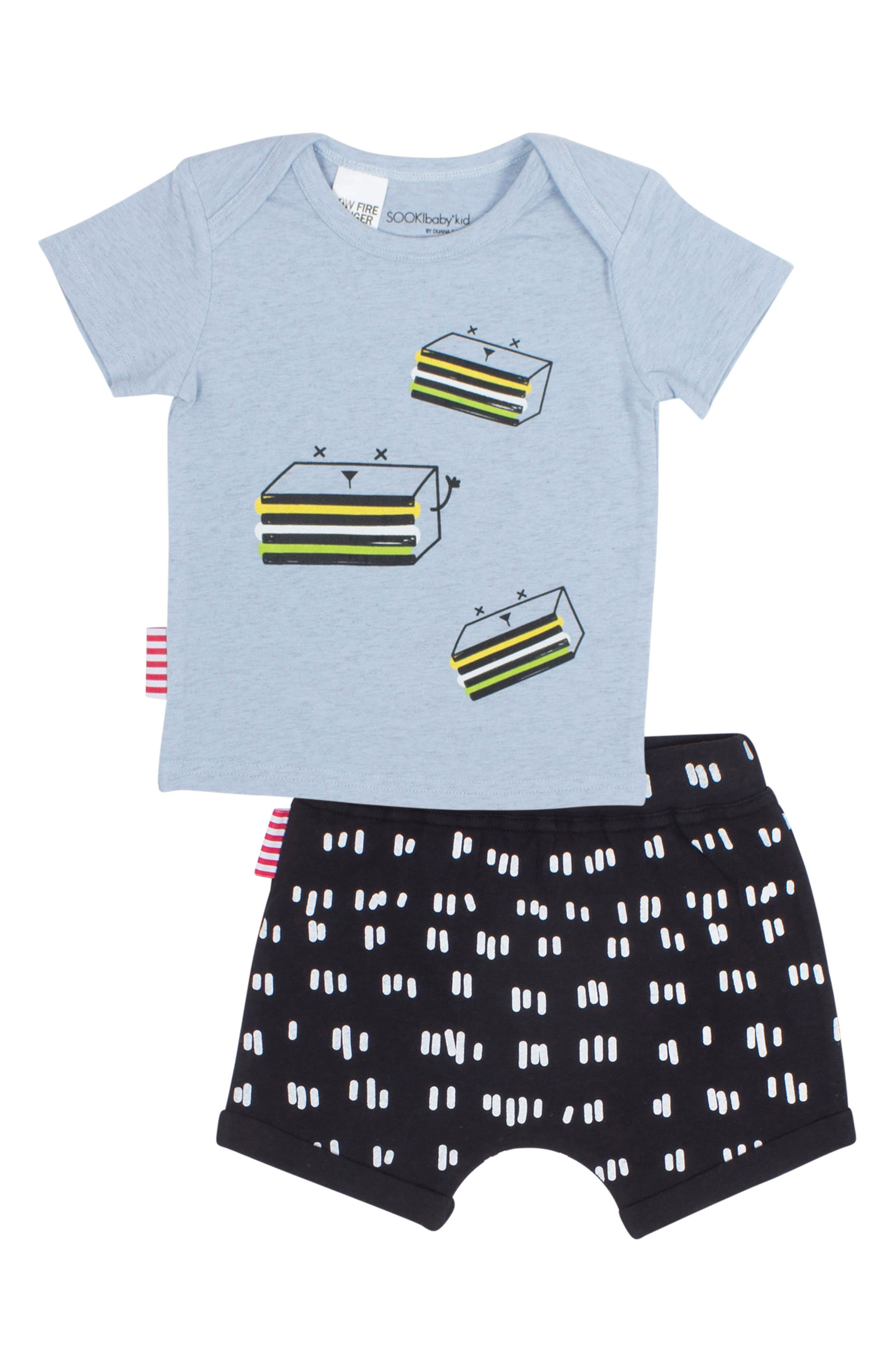 Licorice T-Shirt & Shorts Set,                         Main,                         color, 499