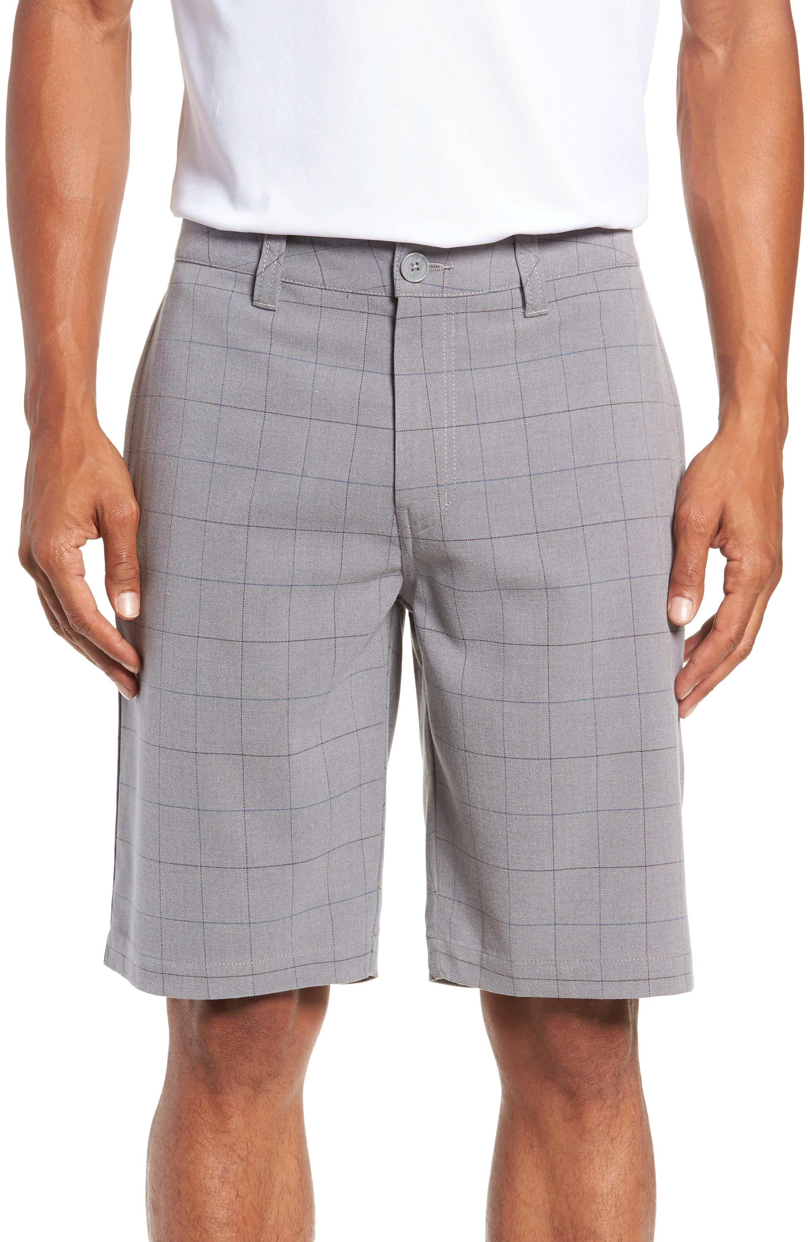 Rickles Regular Fit Shorts,                             Main thumbnail 1, color,                             HEATHER SHARKSKIN