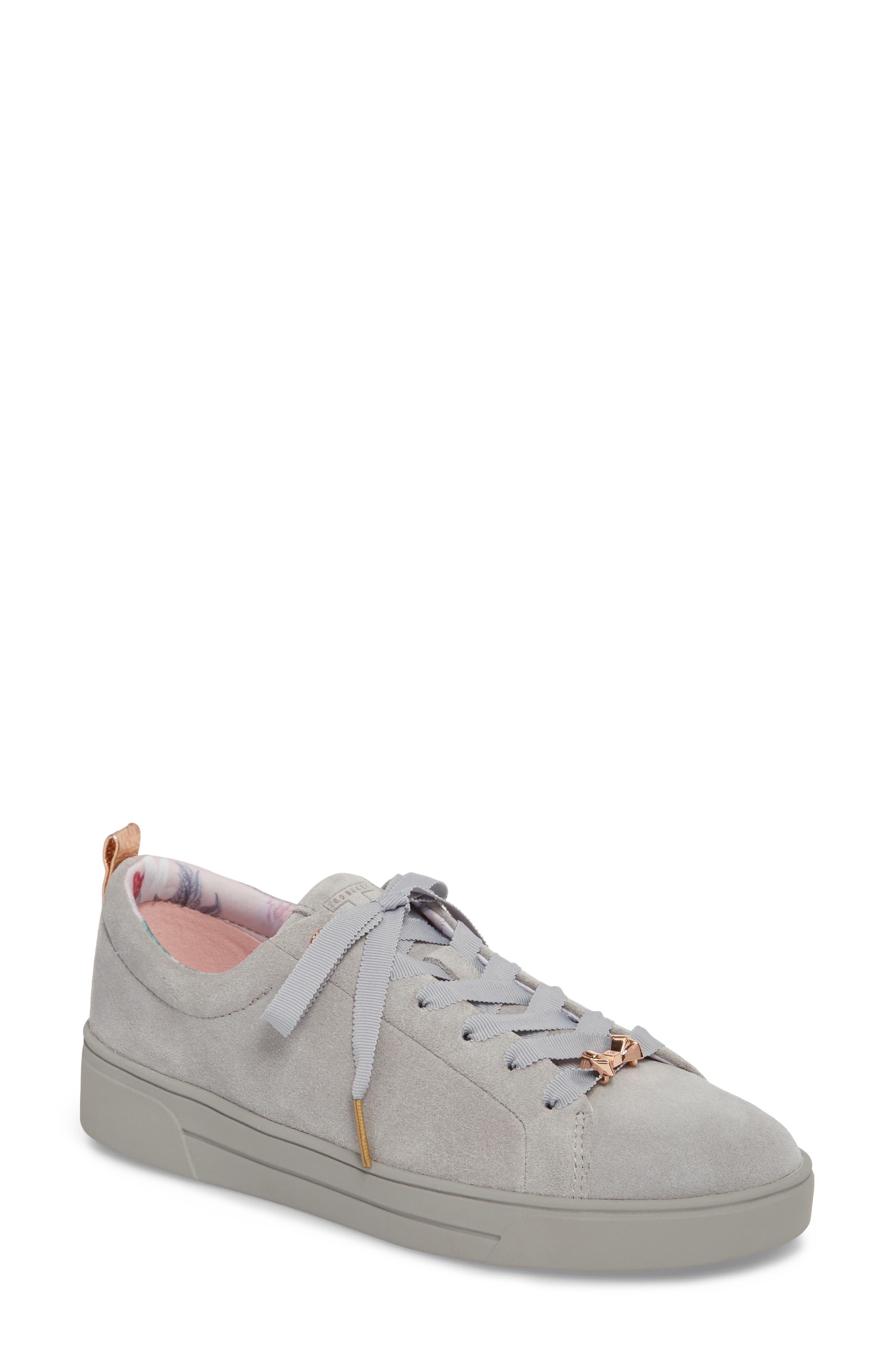 Kelleis Sneaker,                         Main,                         color, LIGHT GREY SUEDE