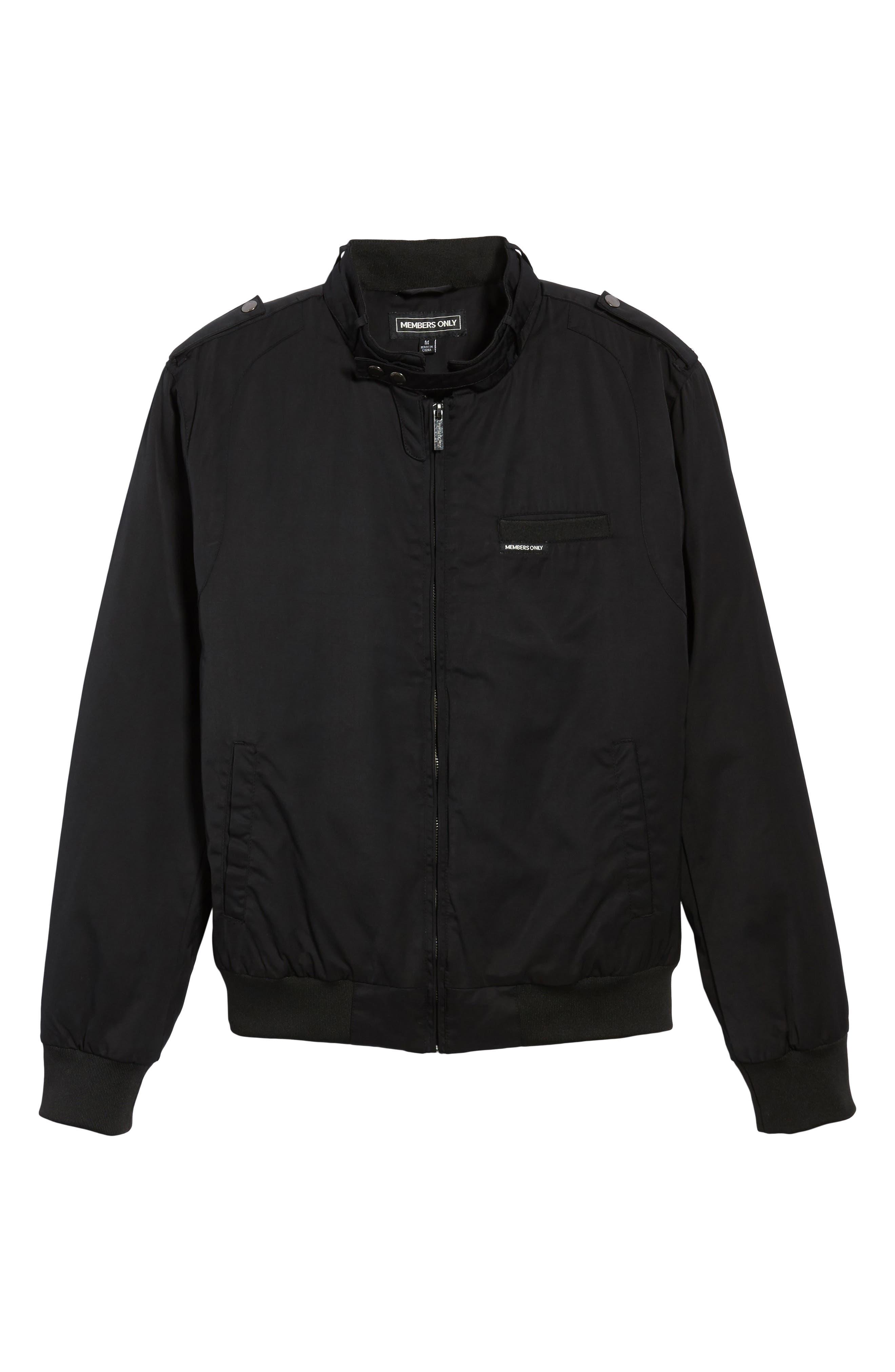 Twill Iconic Jacket,                             Alternate thumbnail 5, color,                             001