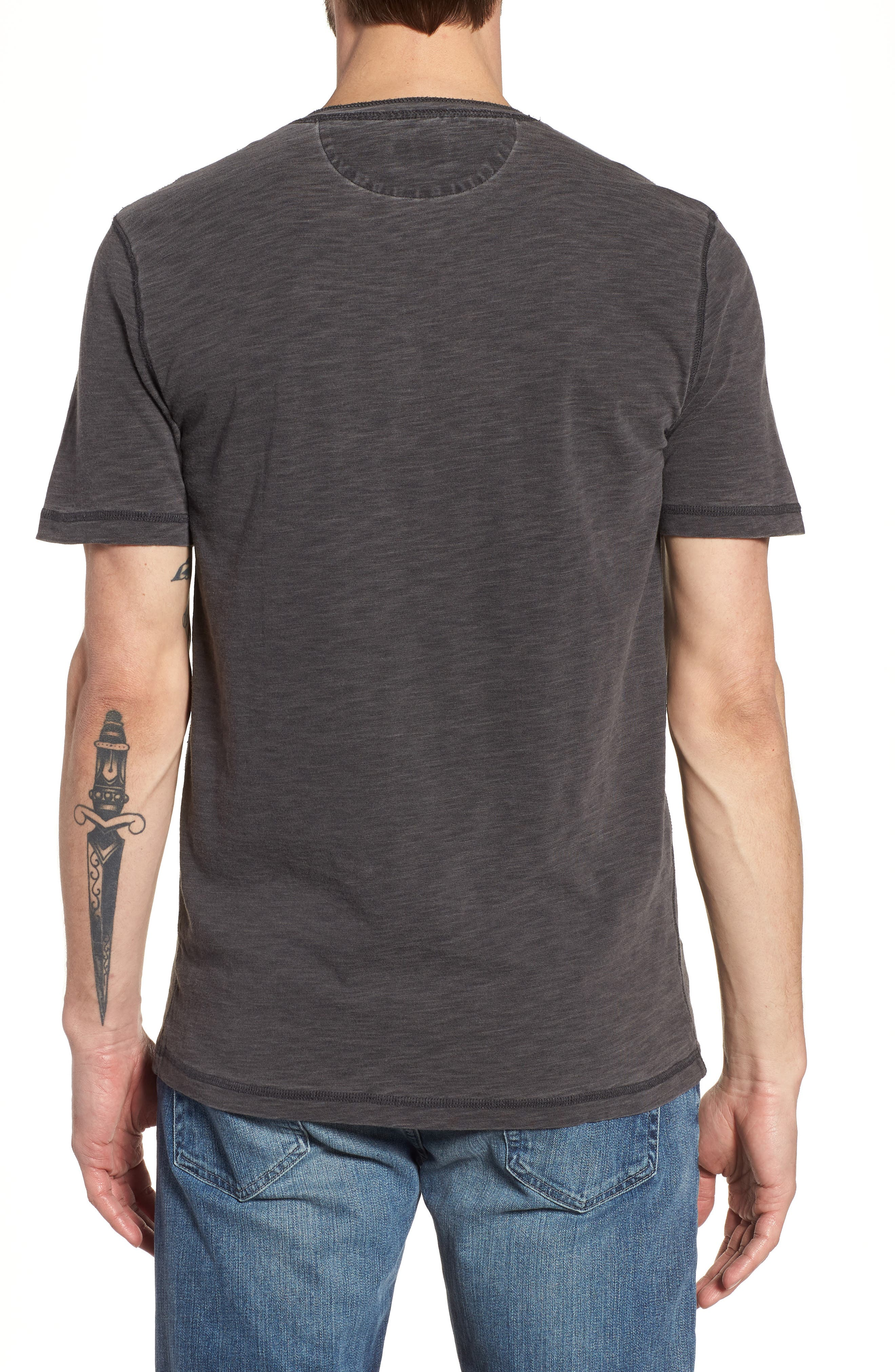 Short Sleeve Henley,                             Alternate thumbnail 2, color,                             001
