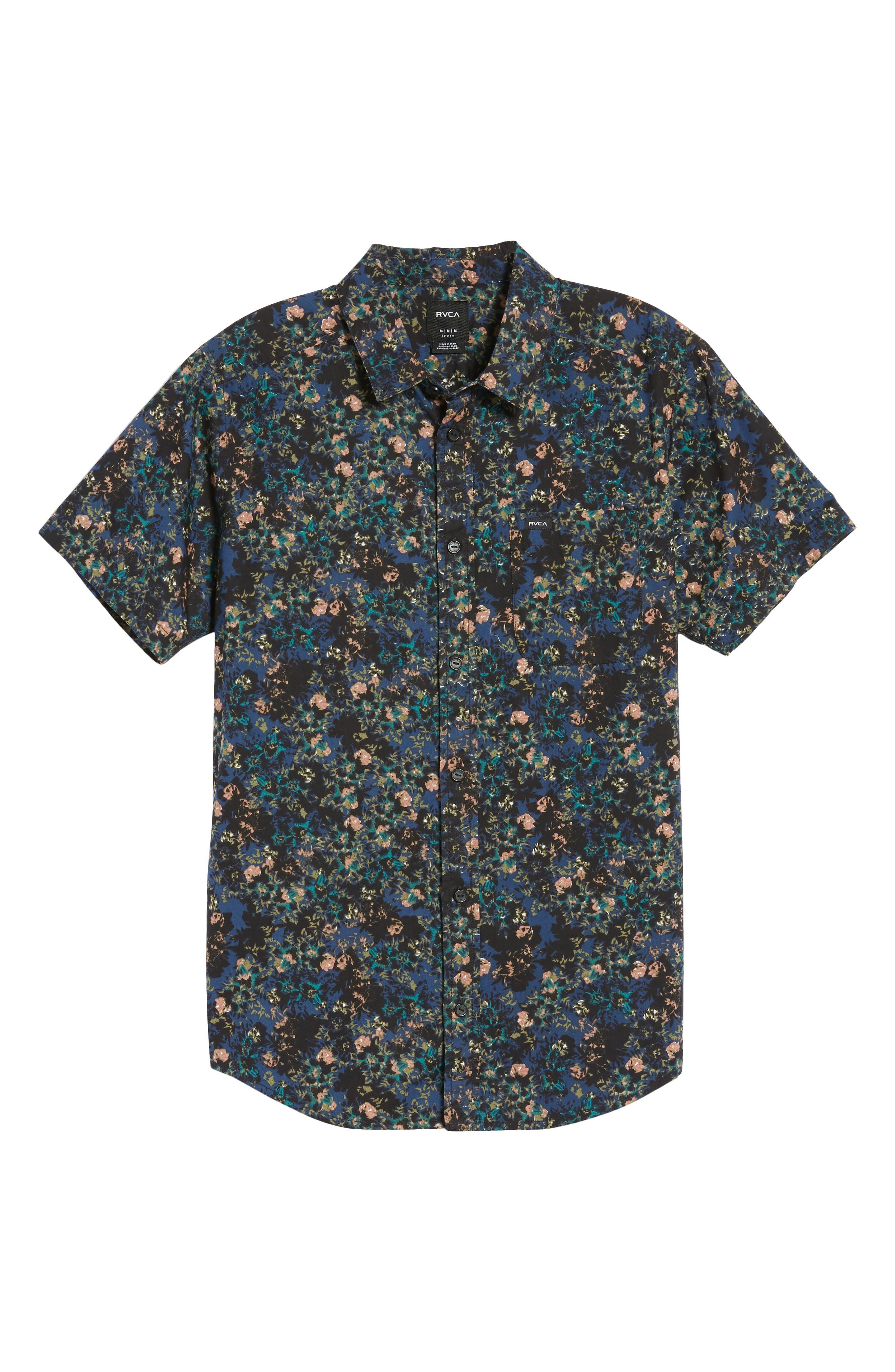 Control Woven Shirt,                             Alternate thumbnail 6, color,                             BLUE
