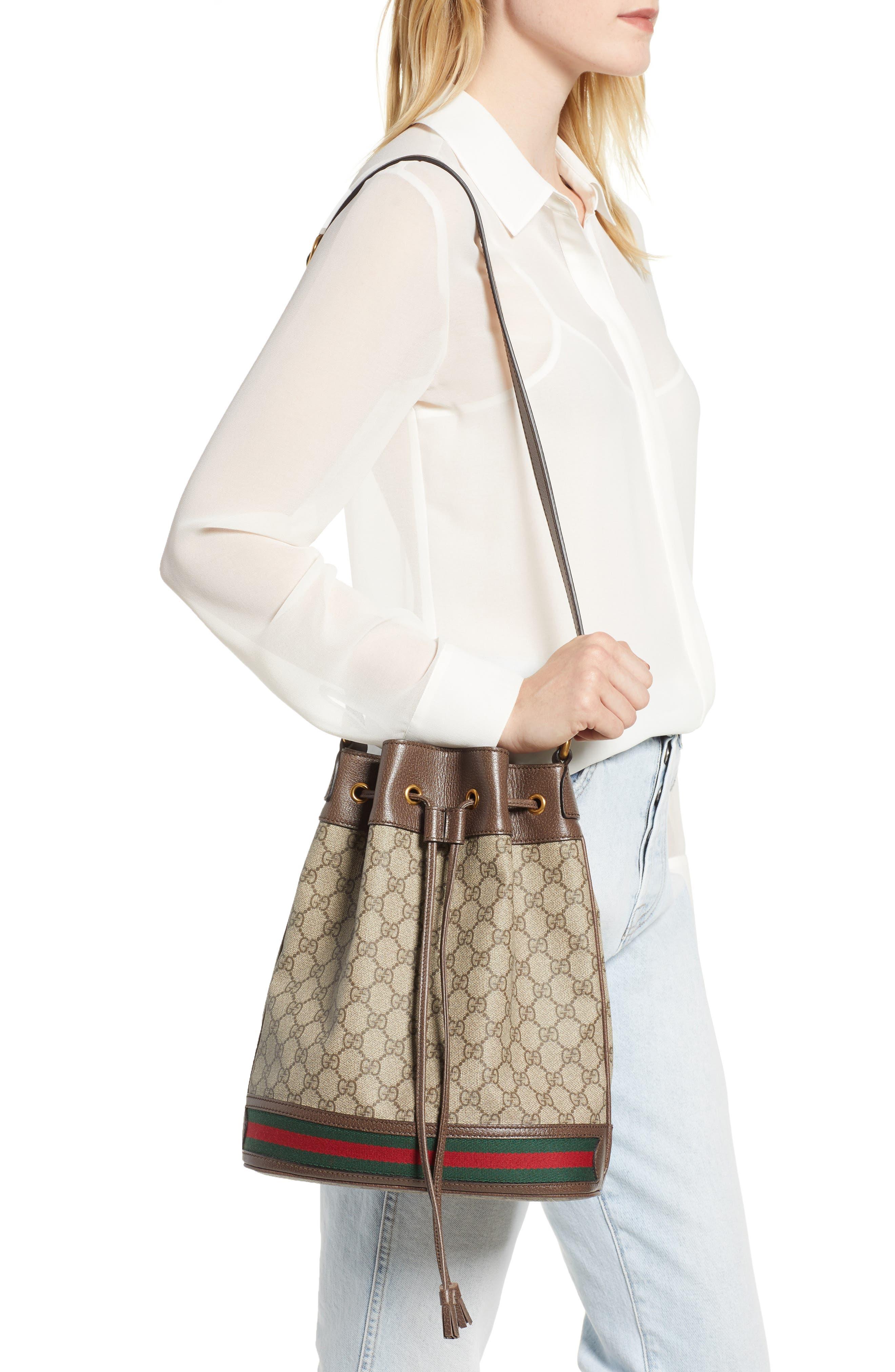Ophidia GG Supreme Bucket Shoulder Bag,                             Alternate thumbnail 2, color,                             250