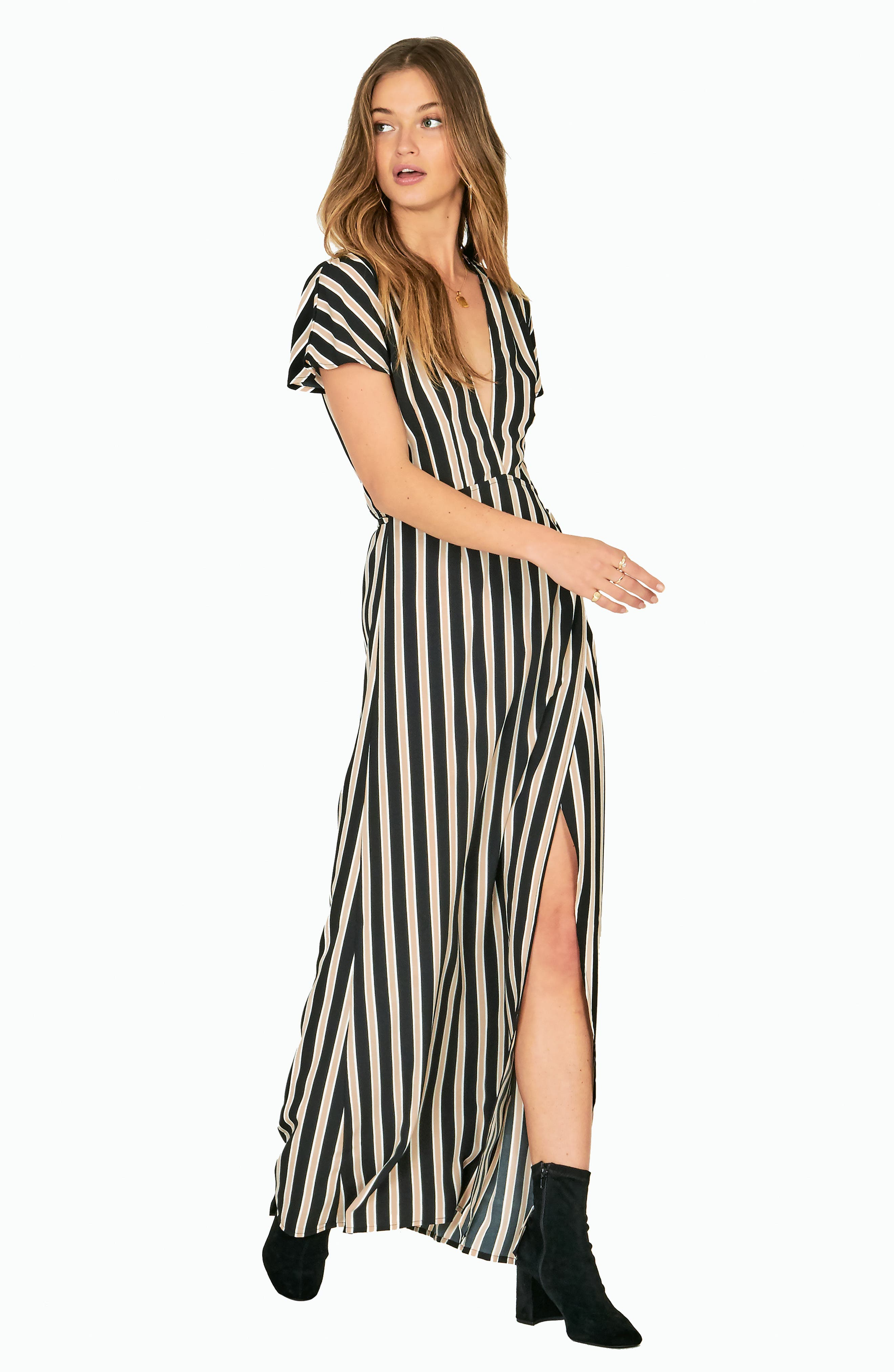 Fit to Be Tied Maxi Dress,                             Alternate thumbnail 6, color,                             001