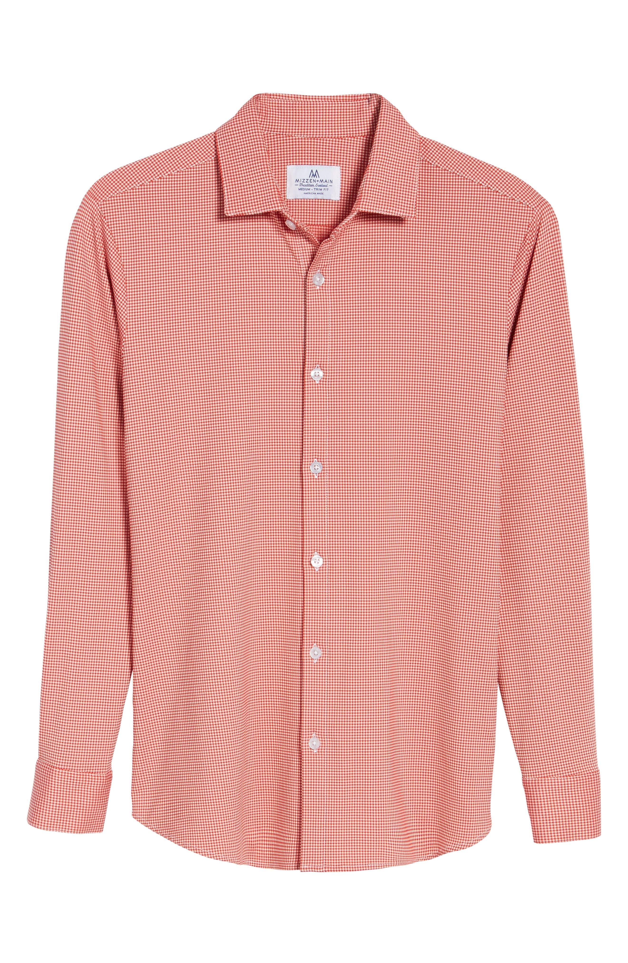 MIZZEN+MAIN,                             Hawthorne Gingham Sport Shirt,                             Alternate thumbnail 6, color,                             600