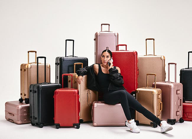 Just landed: Jen Atkin x CALPAK luggage.