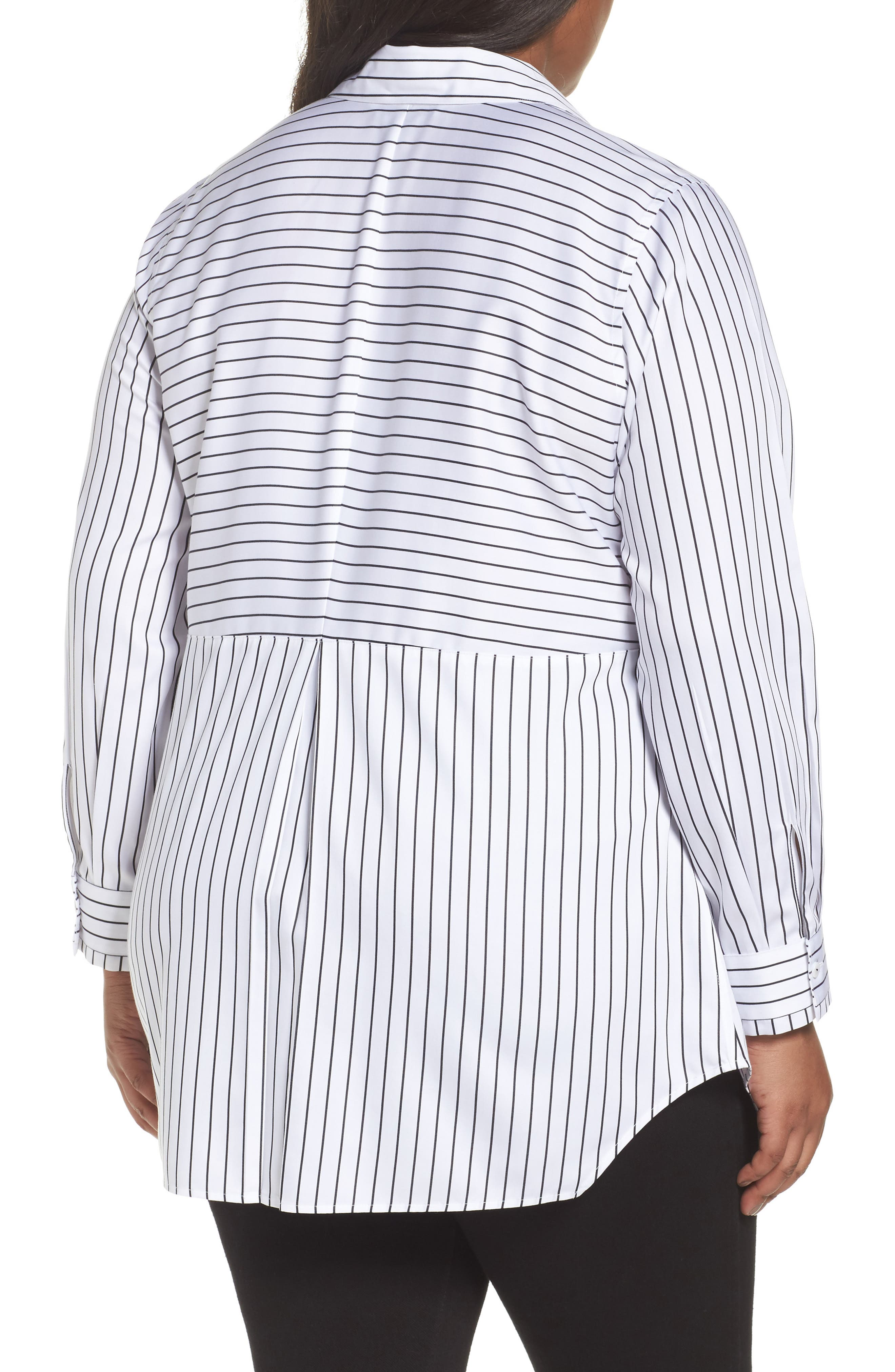 Gina Holiday Stripe Shirt,                             Alternate thumbnail 2, color,                             100