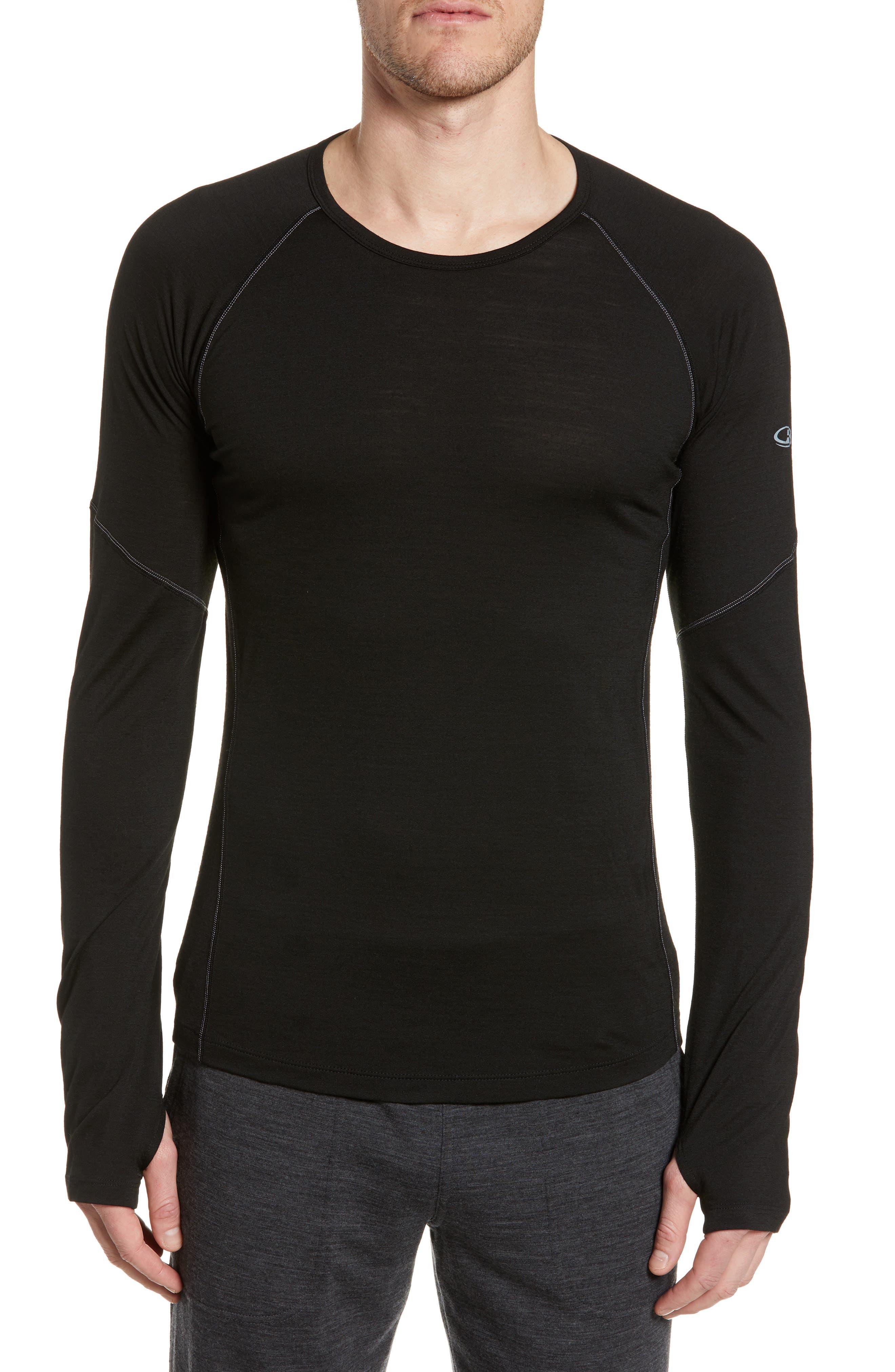 Icebreaker Bodyfitzone(TM) 150 Zone Long Sleeve Top, Black