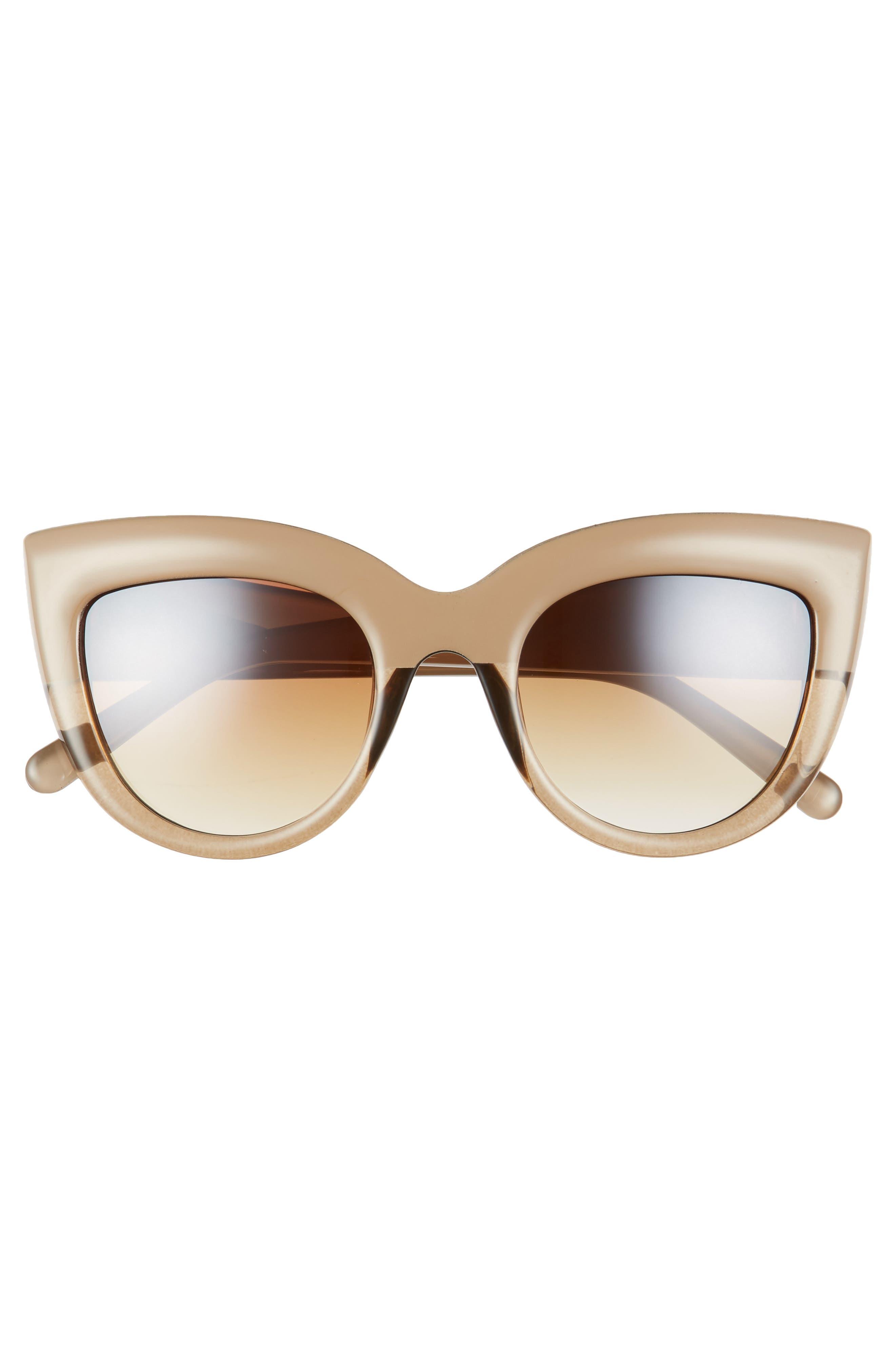 60mm Two-Tone Cat Eye Sunglasses,                             Alternate thumbnail 3, color,