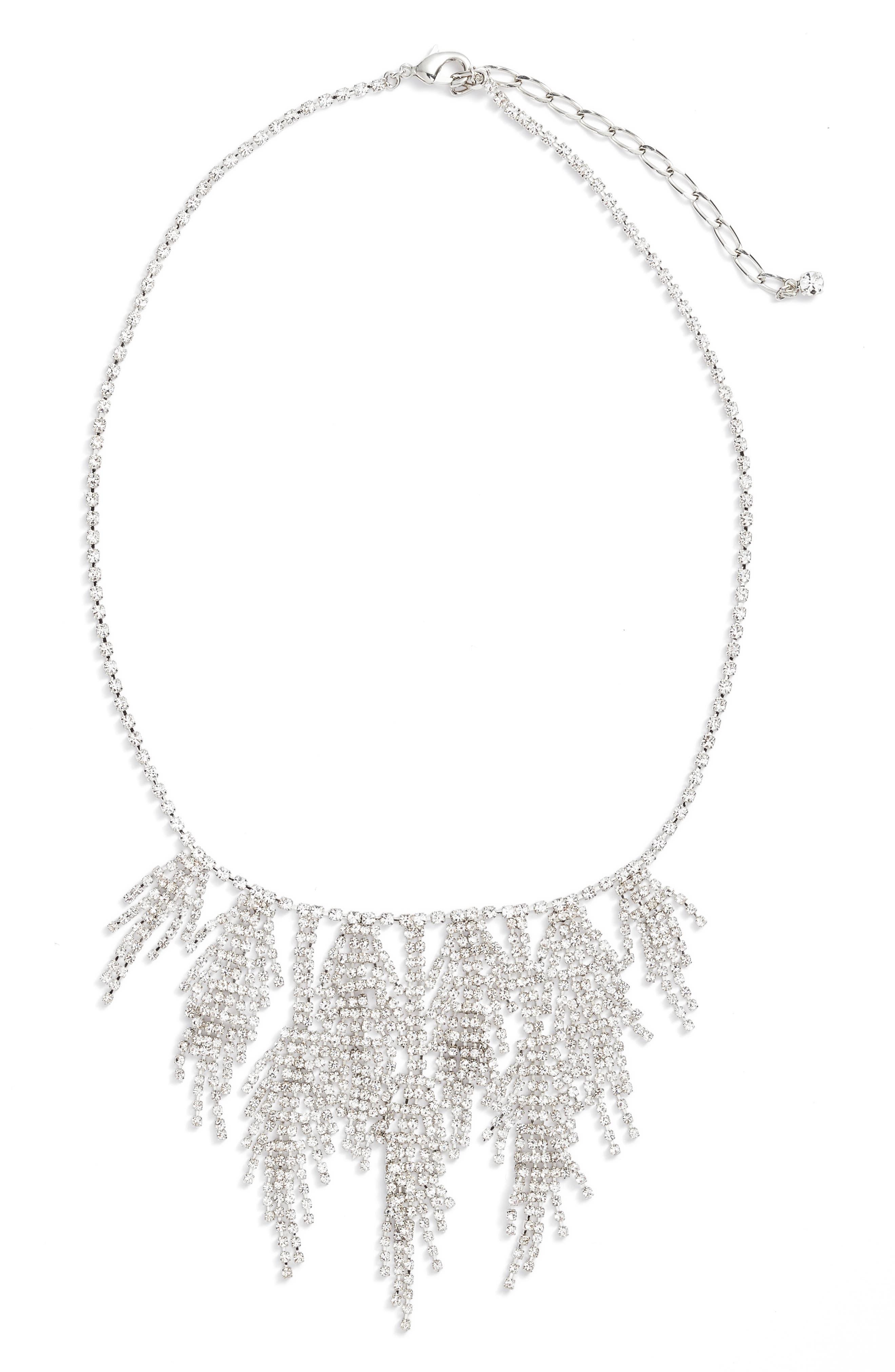 Multifringe Crystal Necklace,                             Main thumbnail 1, color,