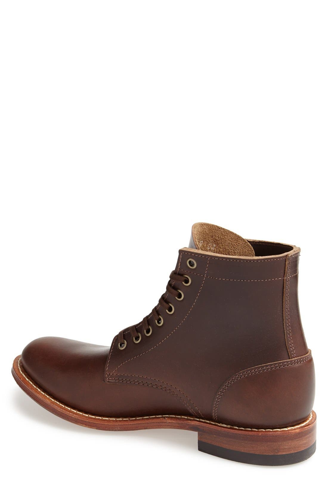 Plain Toe Trench Boot,                             Alternate thumbnail 3, color,                             BROWN