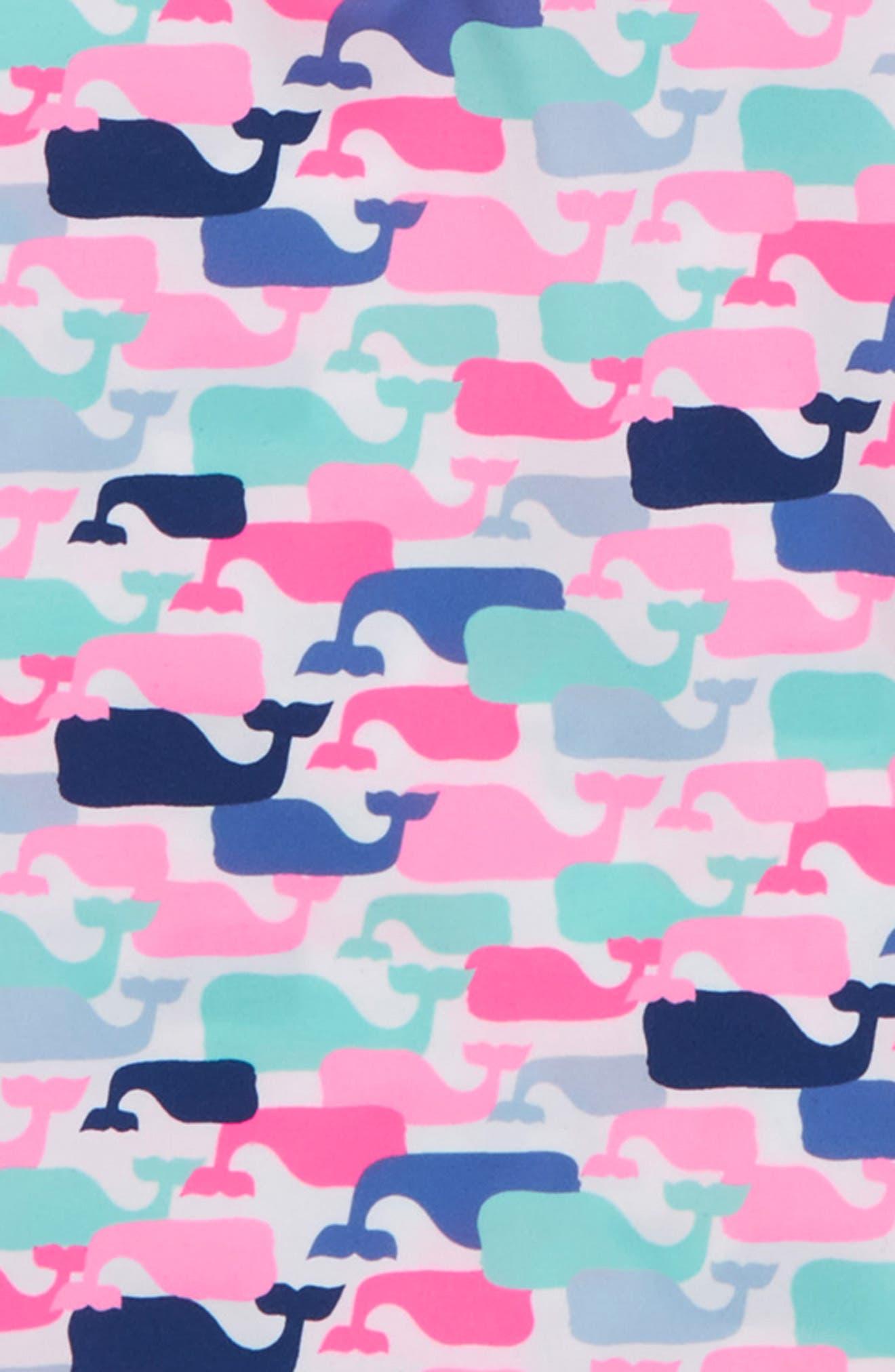 Whale Pattern Long Sleeve Rashguard,                             Alternate thumbnail 2, color,                             100
