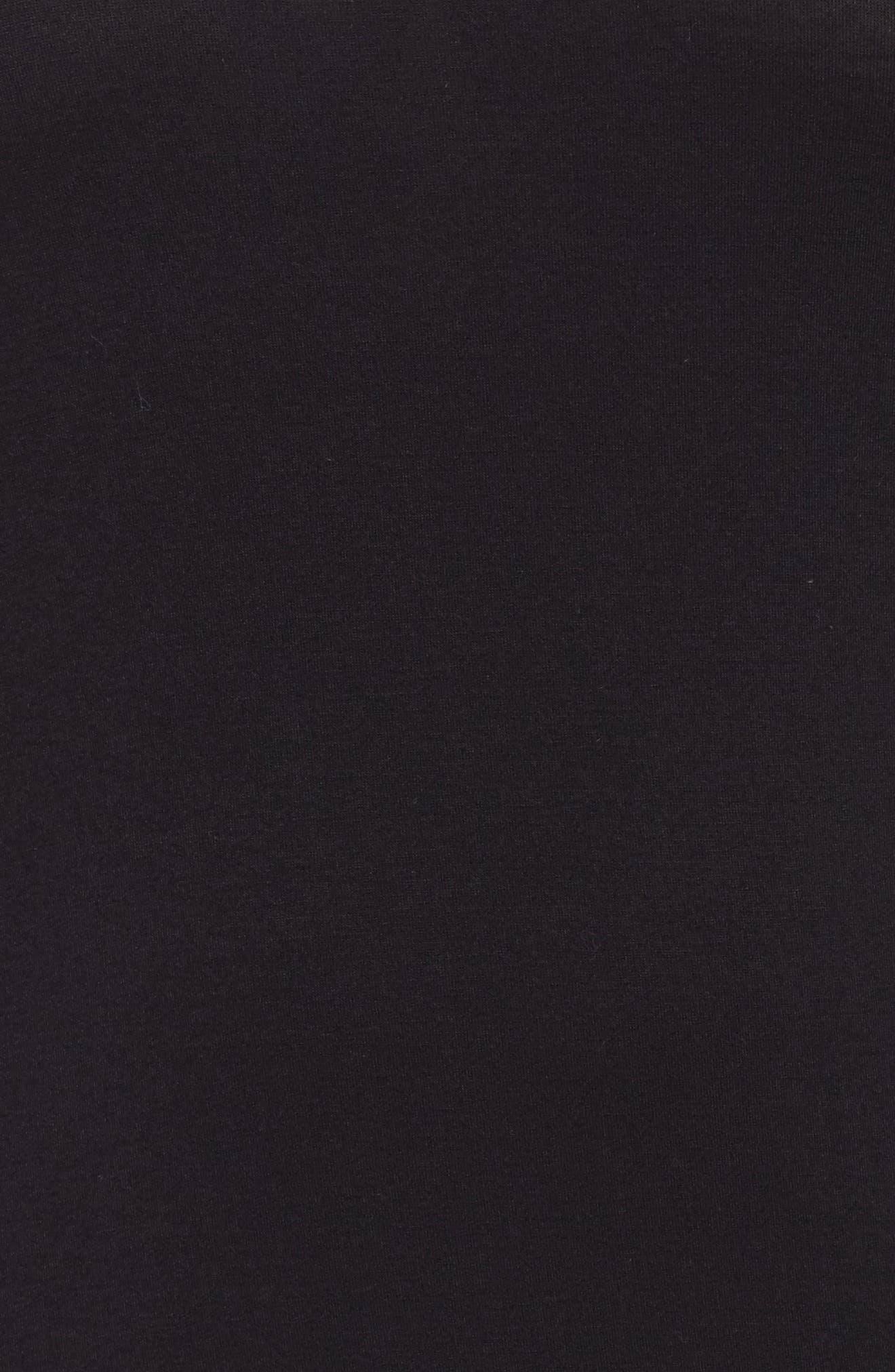 All American Sleep Shirt,                             Alternate thumbnail 5, color,                             BLACK