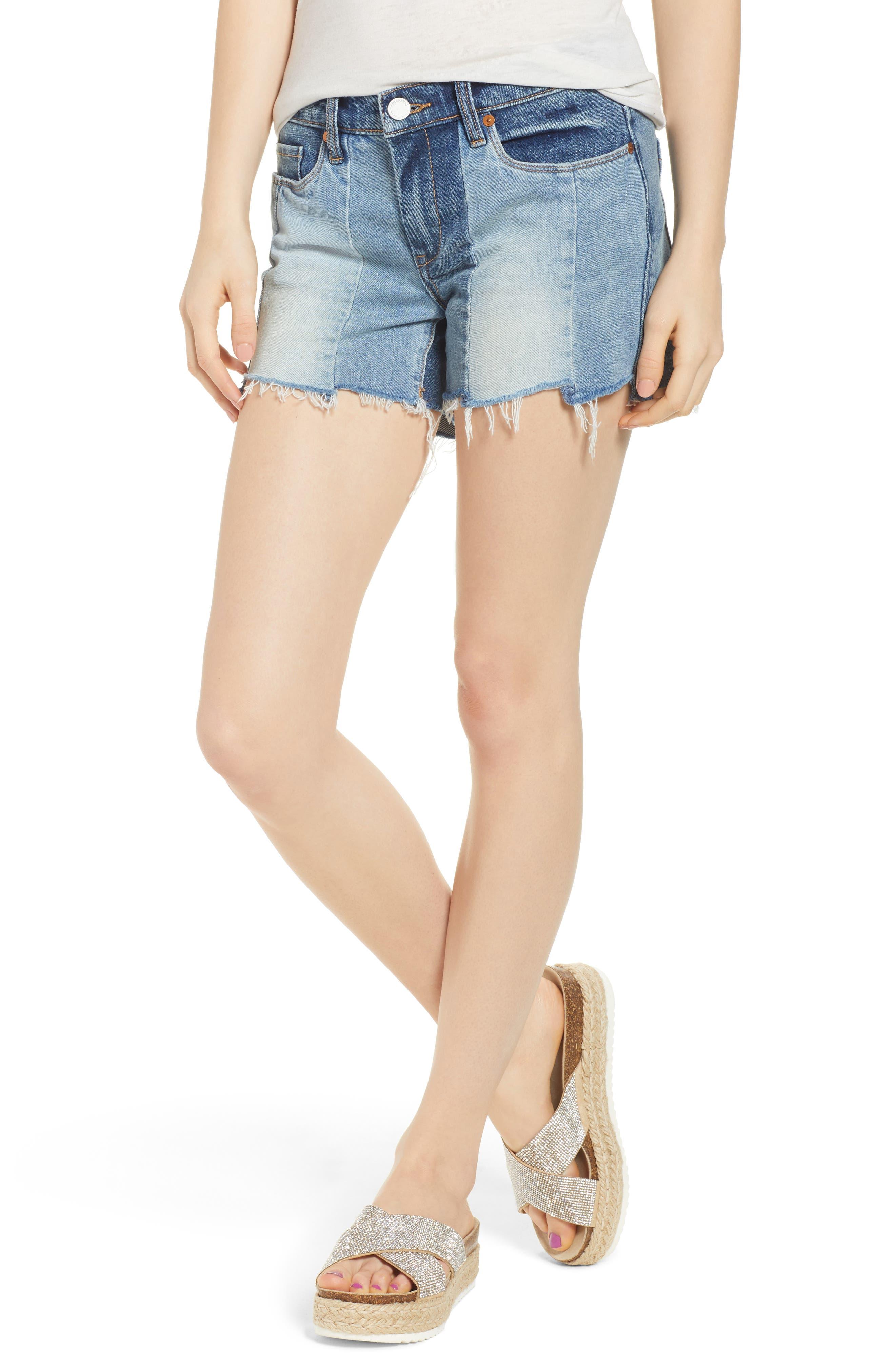 The Essex Paneled Denim Shorts,                         Main,                         color, 400