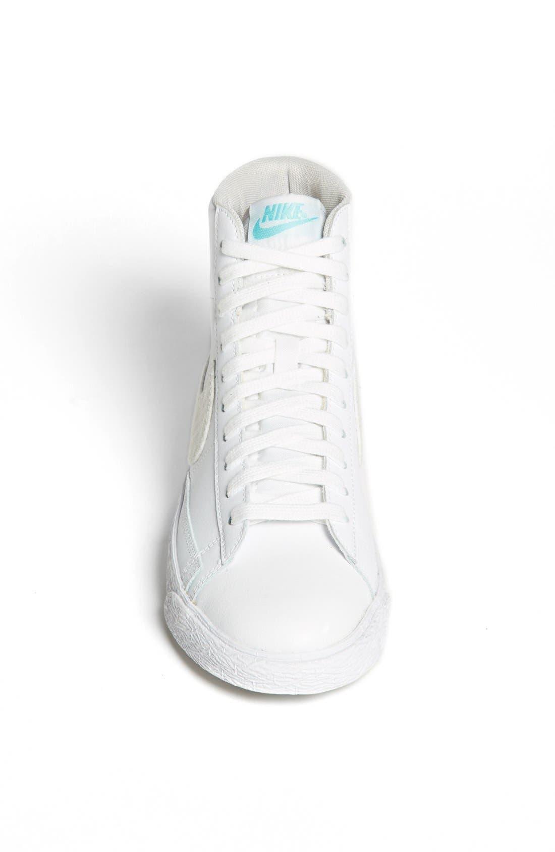 'Blazer' Mid Leather Sneaker,                             Alternate thumbnail 3, color,                             103