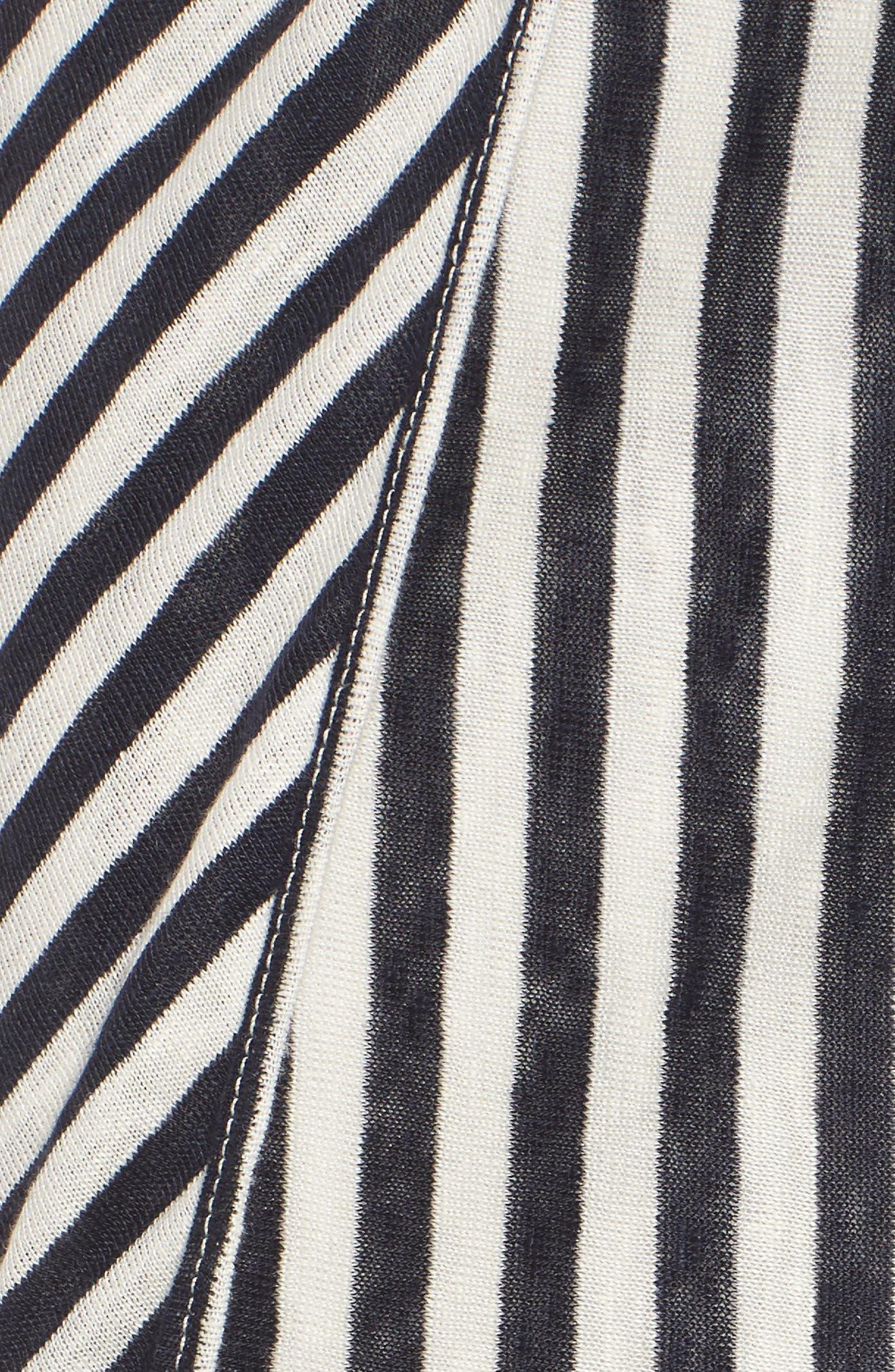x Margherita Isola Stripe Sarong Skirt,                             Alternate thumbnail 5, color,                             461