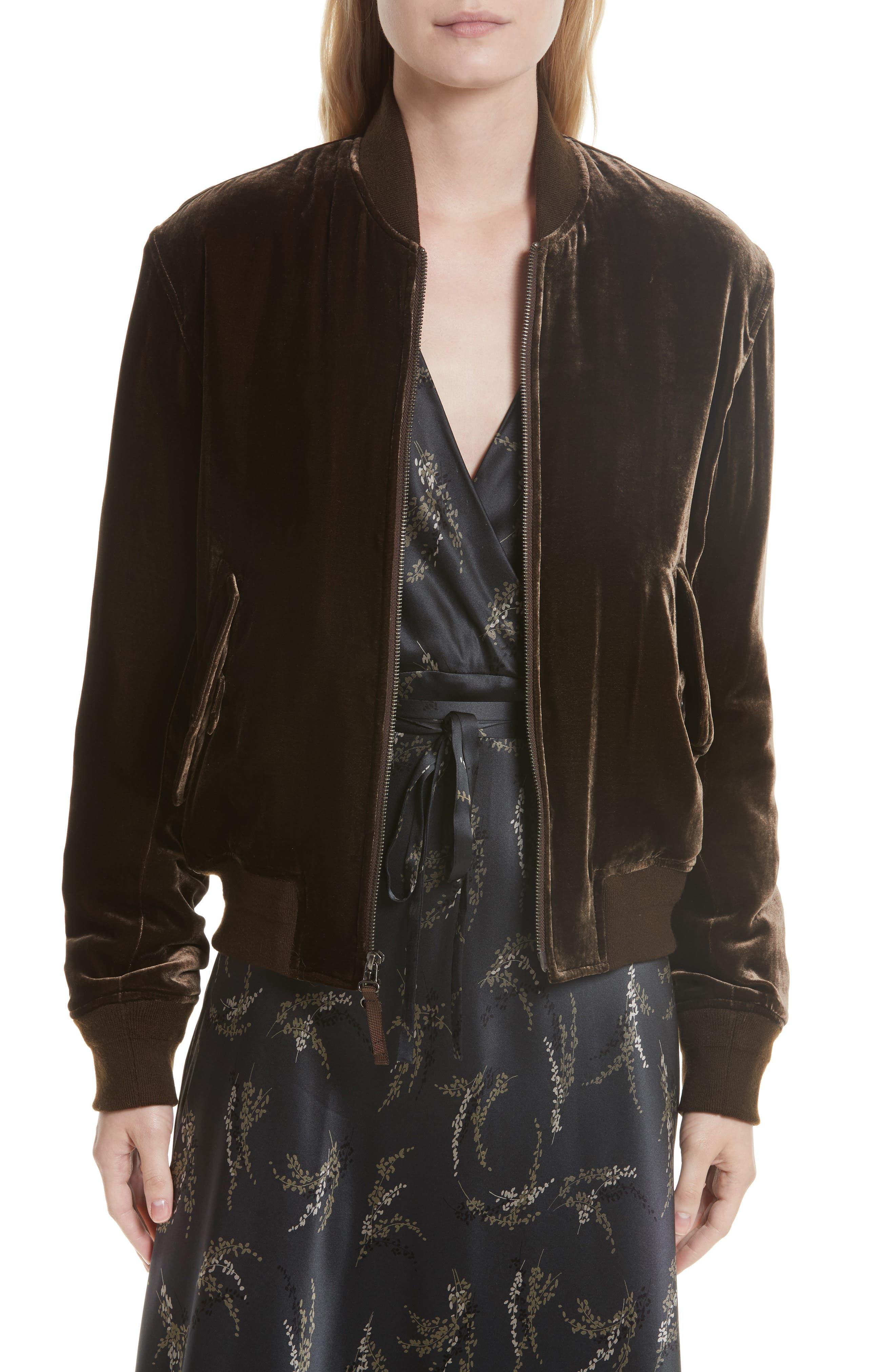Velvet Bomber Jacket,                         Main,                         color, 209