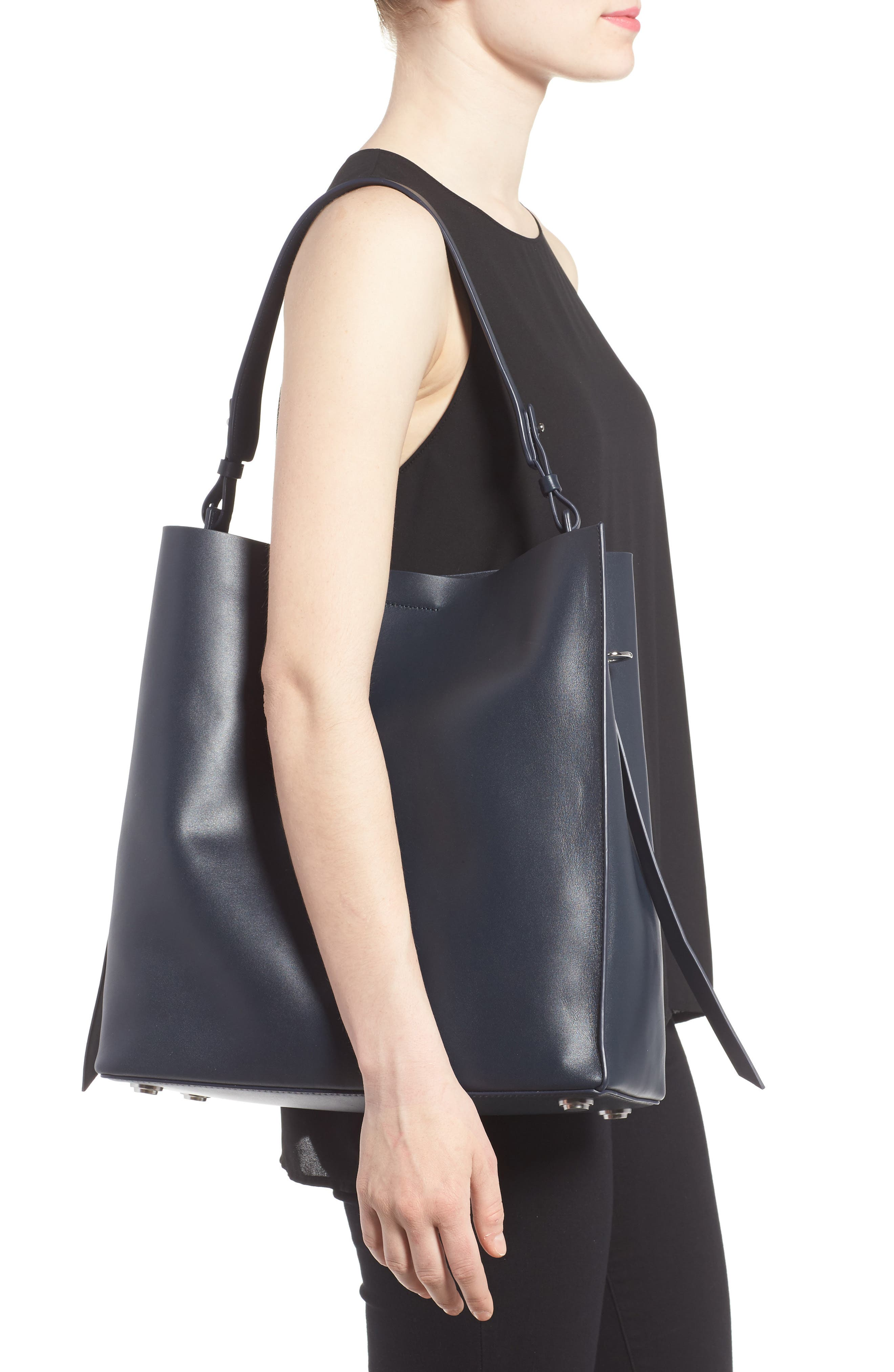 'Paradise North/South' Calfskin Leather Tote,                             Alternate thumbnail 20, color,