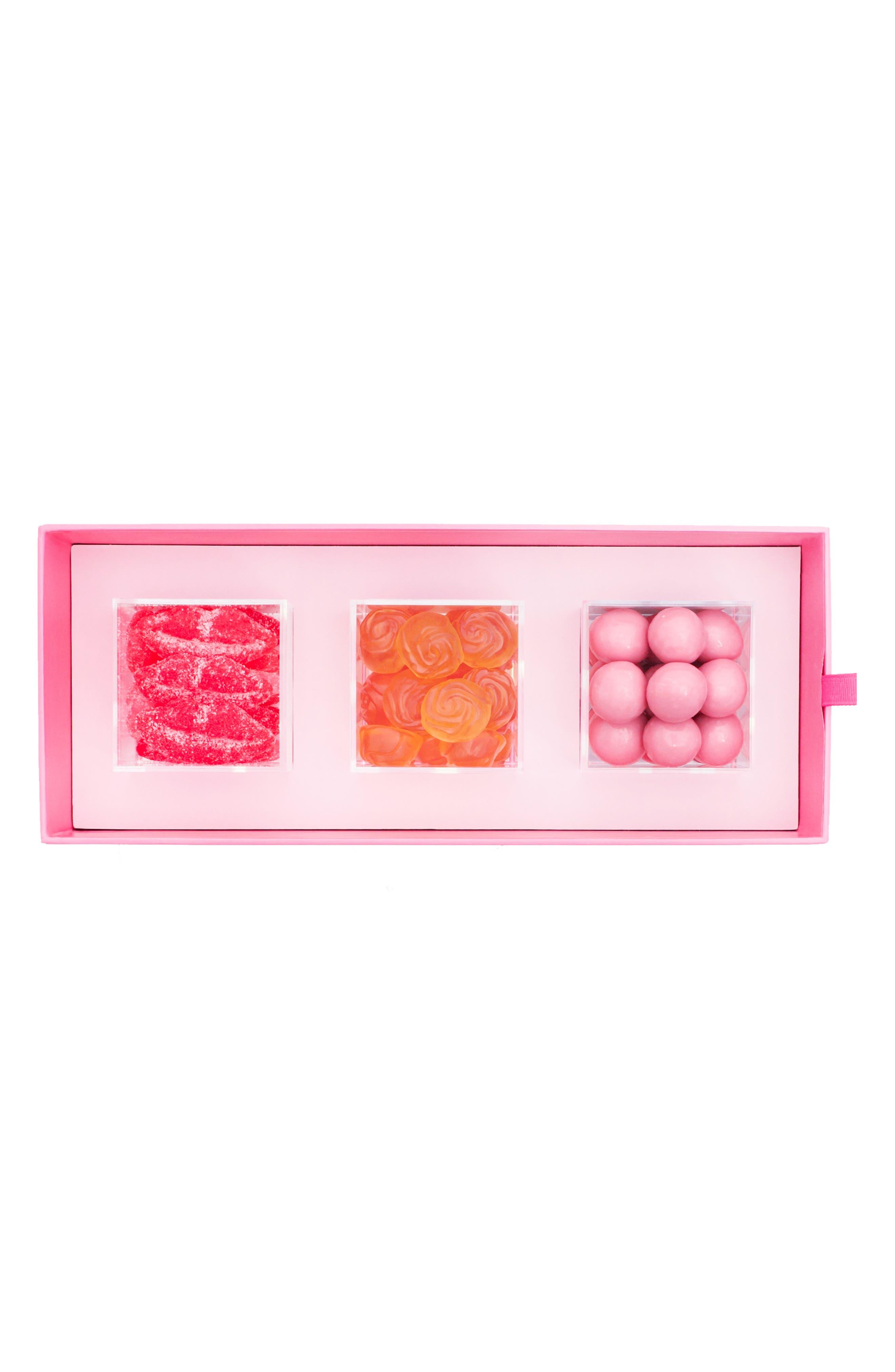 XOXO 3-Piece Candy Bento Box,                             Alternate thumbnail 2, color,                             PINK