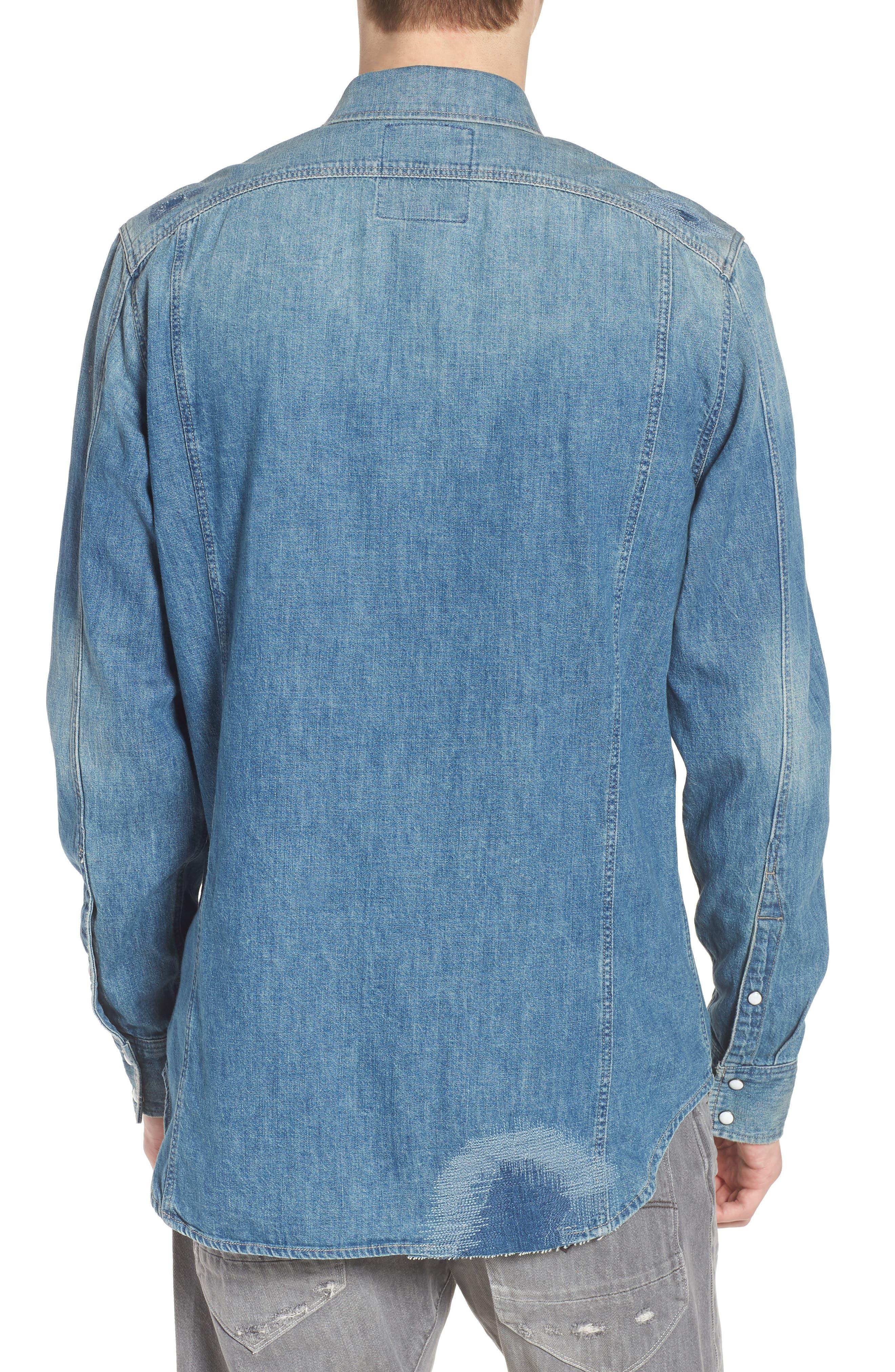 3301 Graft Denim Shirt,                             Alternate thumbnail 2, color,                             421