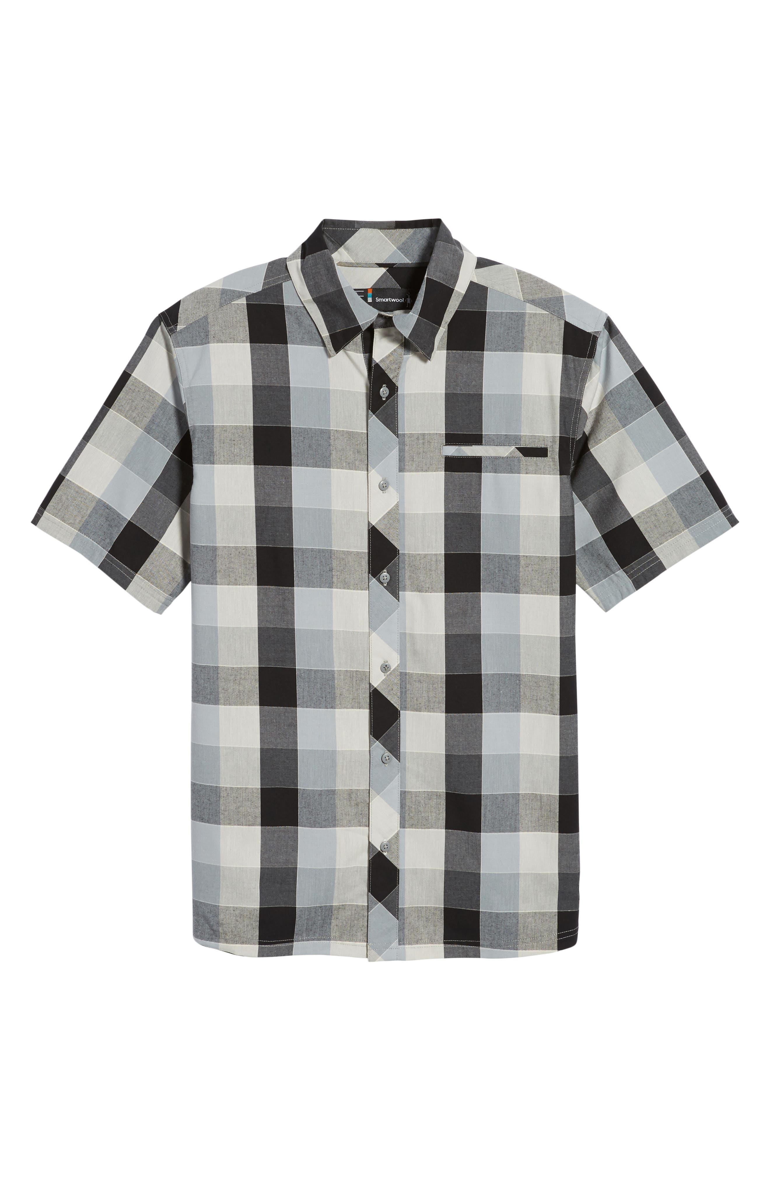Everyday Exploration Short Sleeve Sport Shirt,                             Alternate thumbnail 6, color,                             LIGHT GREY